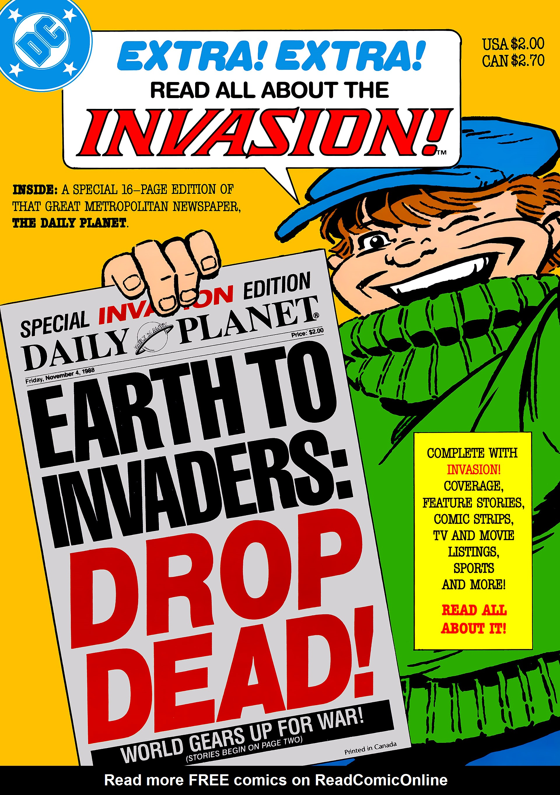 Invasion! Special: Daily Planet Full Page 1