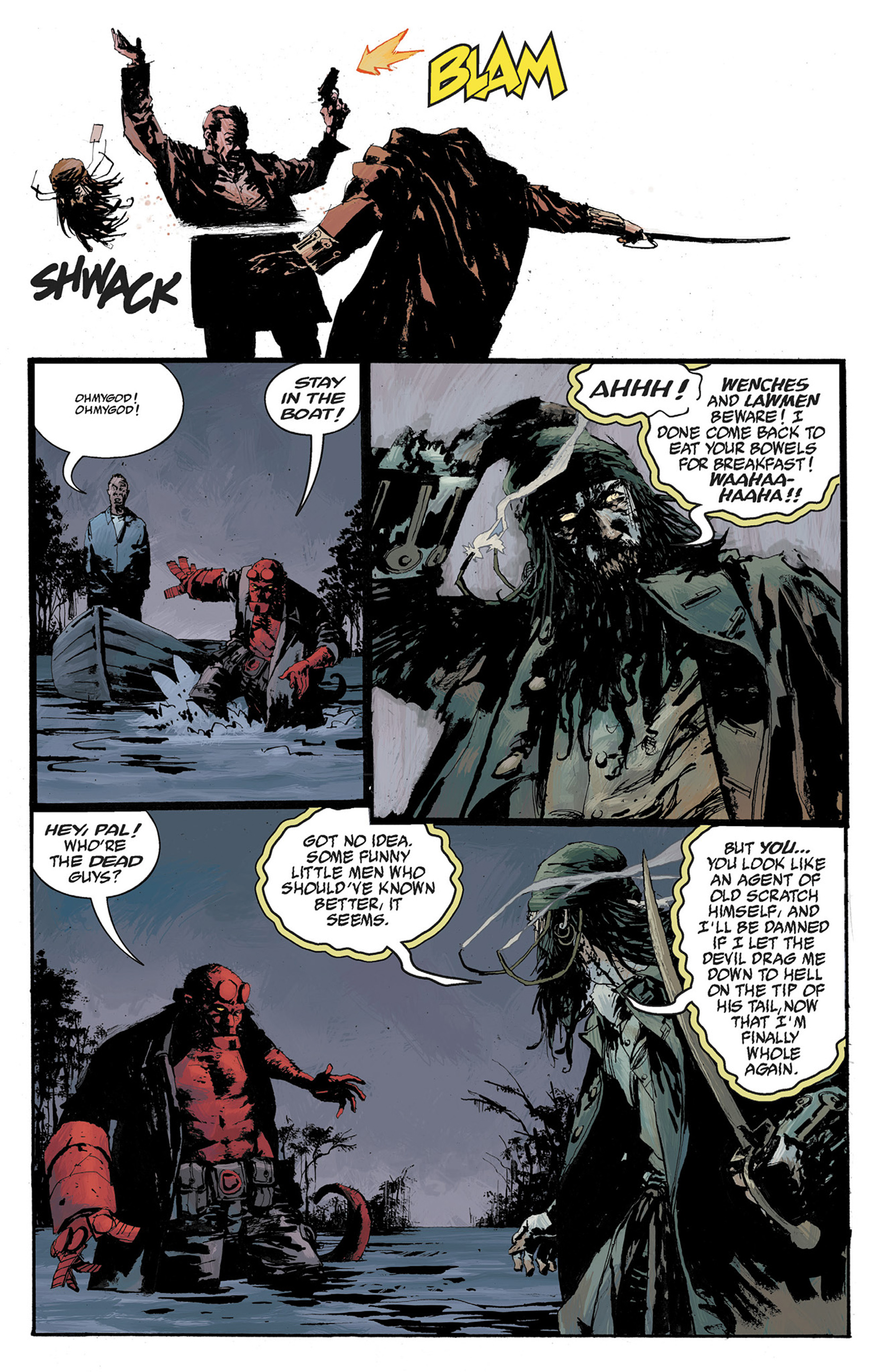 Read online Hellboy: The Crooked Man and Others comic -  Issue # TPB - 99