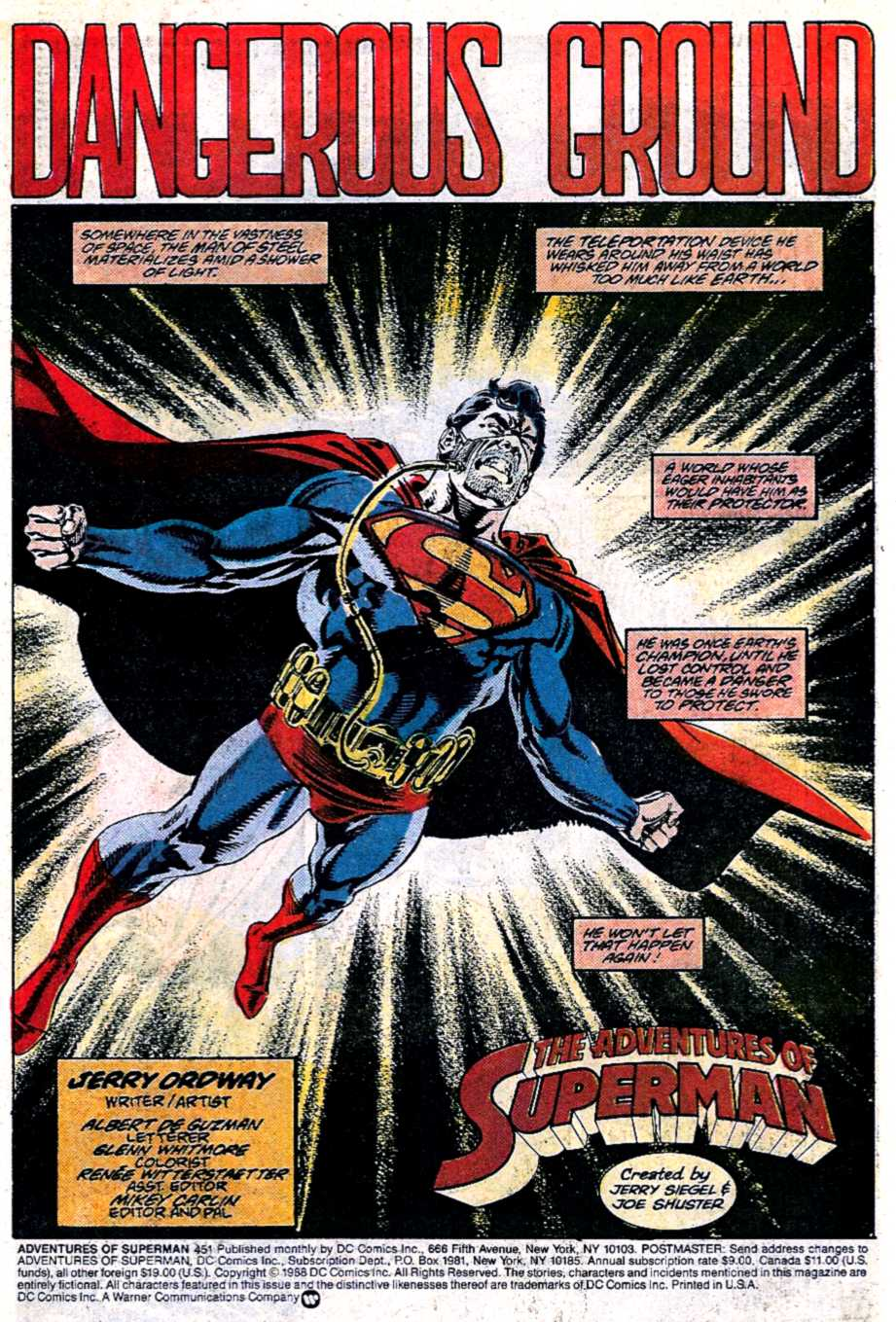 Read online Adventures of Superman (1987) comic -  Issue #451 - 2