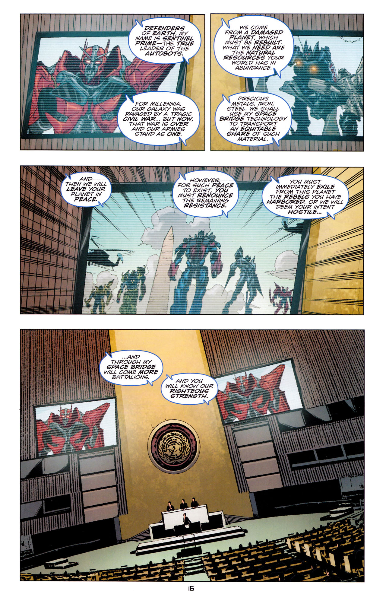 Read online Transformers: Dark of the Moon Movie Adaptation comic -  Issue #3 - 18