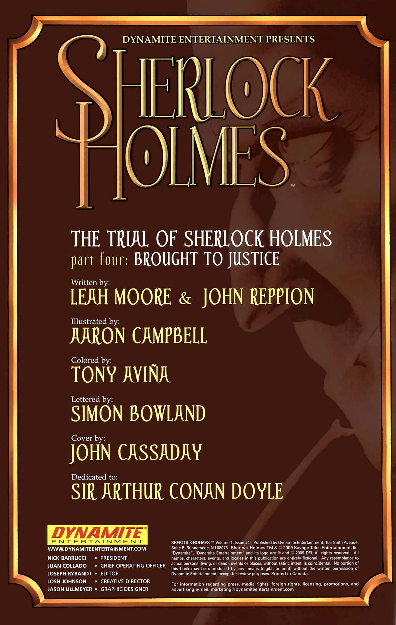 Read online Sherlock Holmes (2009) comic -  Issue #4 - 2