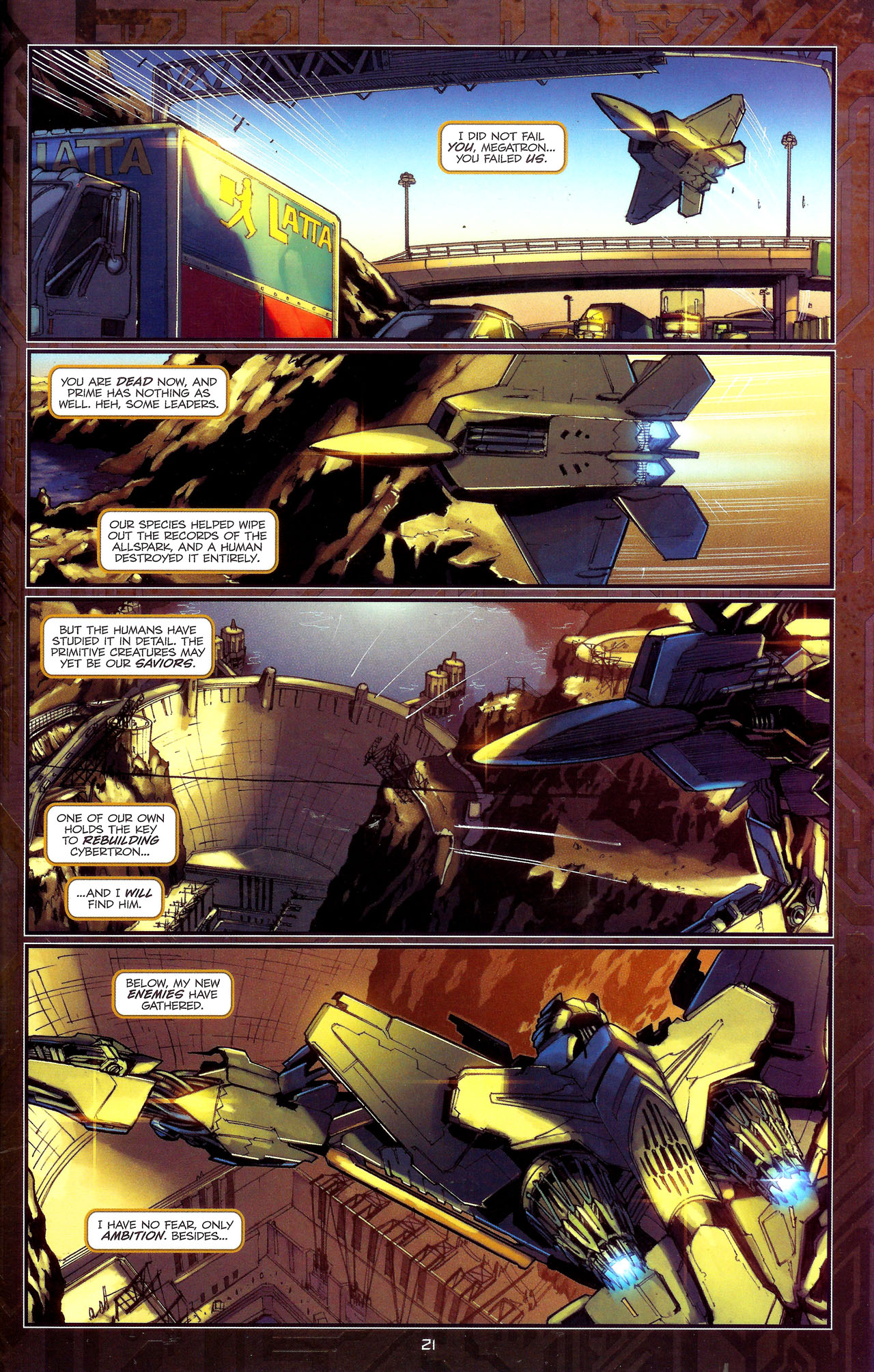 Read online Transformers: The Reign of Starscream comic -  Issue #1 - 24