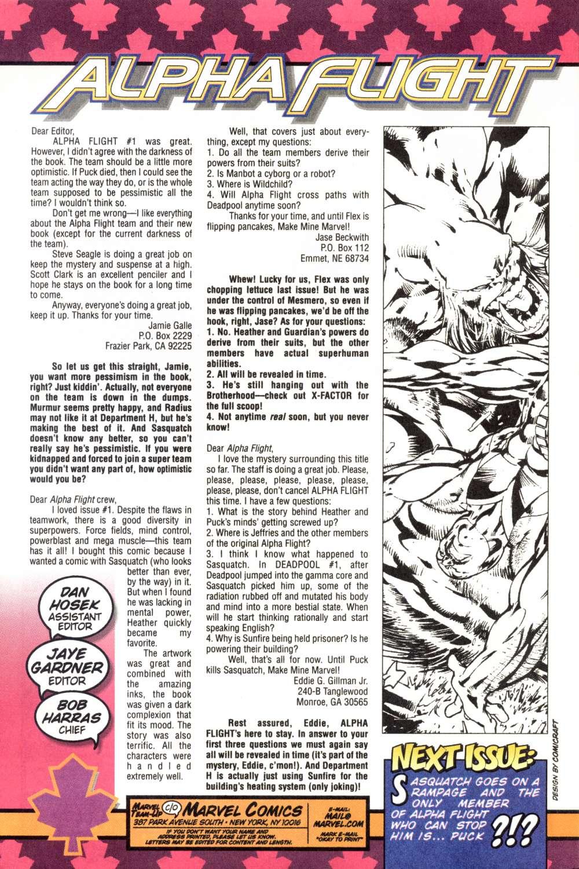 Read online Alpha Flight (1997) comic -  Issue #5 - 25