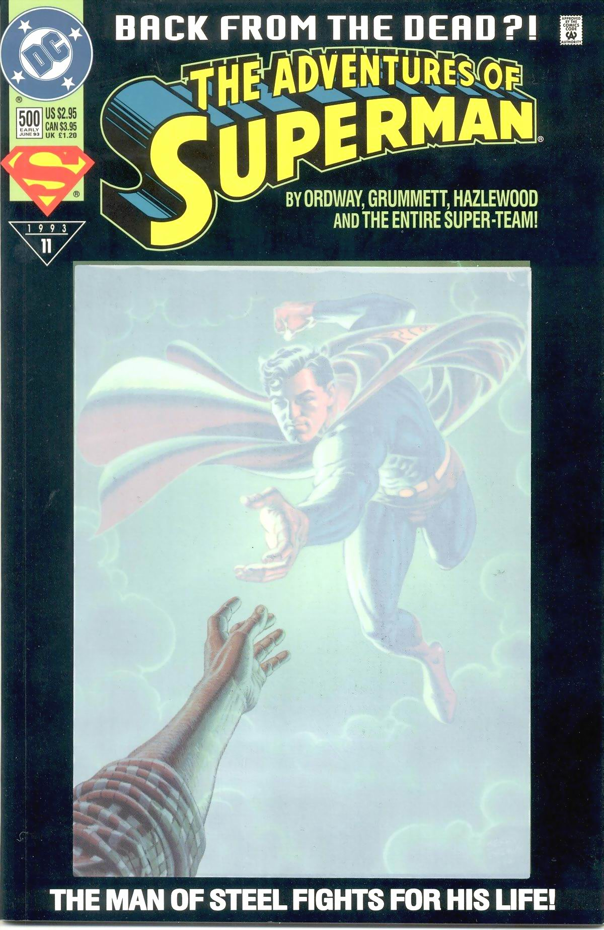 Read online Adventures of Superman (1987) comic -  Issue #500 - 1