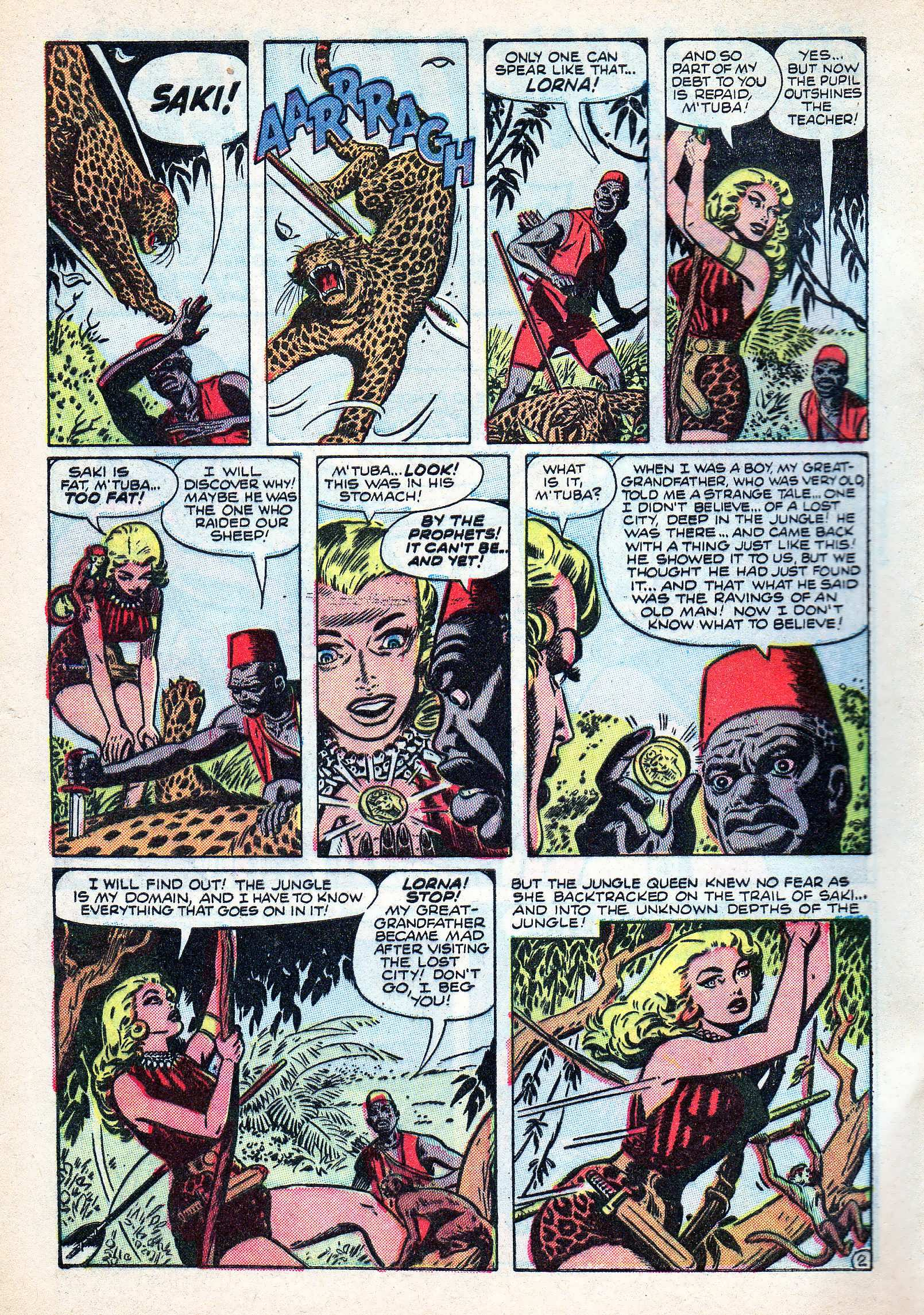 Read online Lorna, The Jungle Queen comic -  Issue #3 - 4