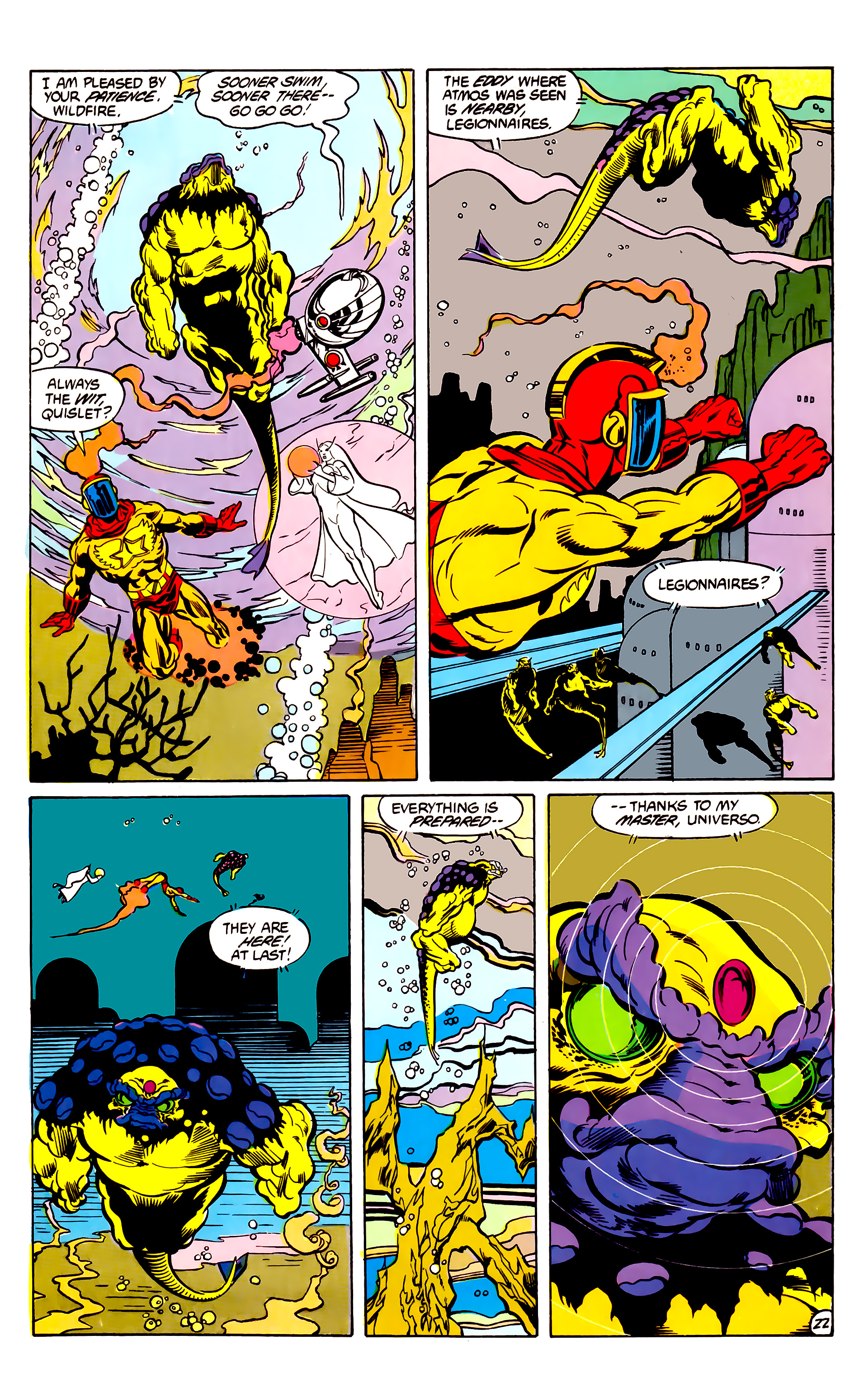 Legion of Super-Heroes (1984) 30 Page 22