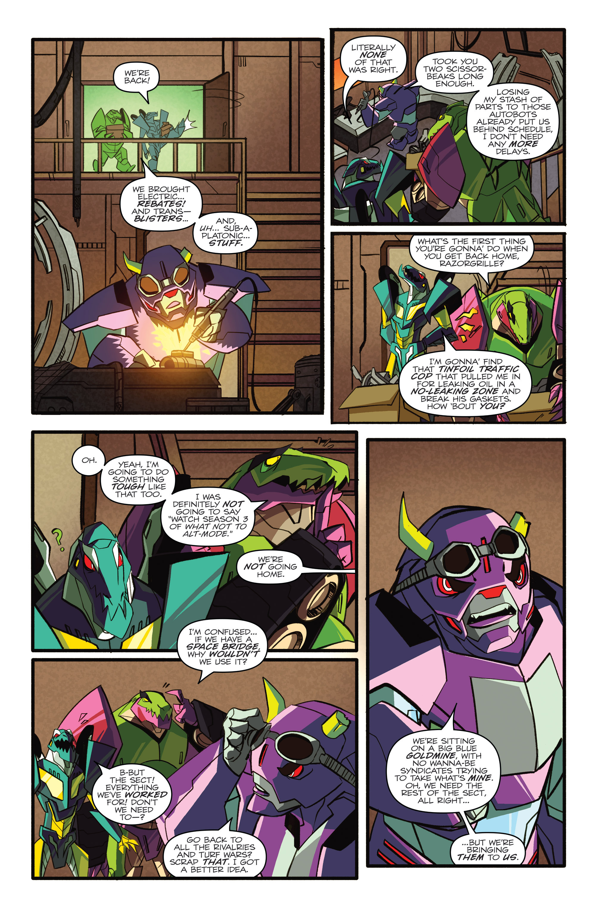 Read online Transformers: Robots In Disguise (2015) comic -  Issue #4 - 10