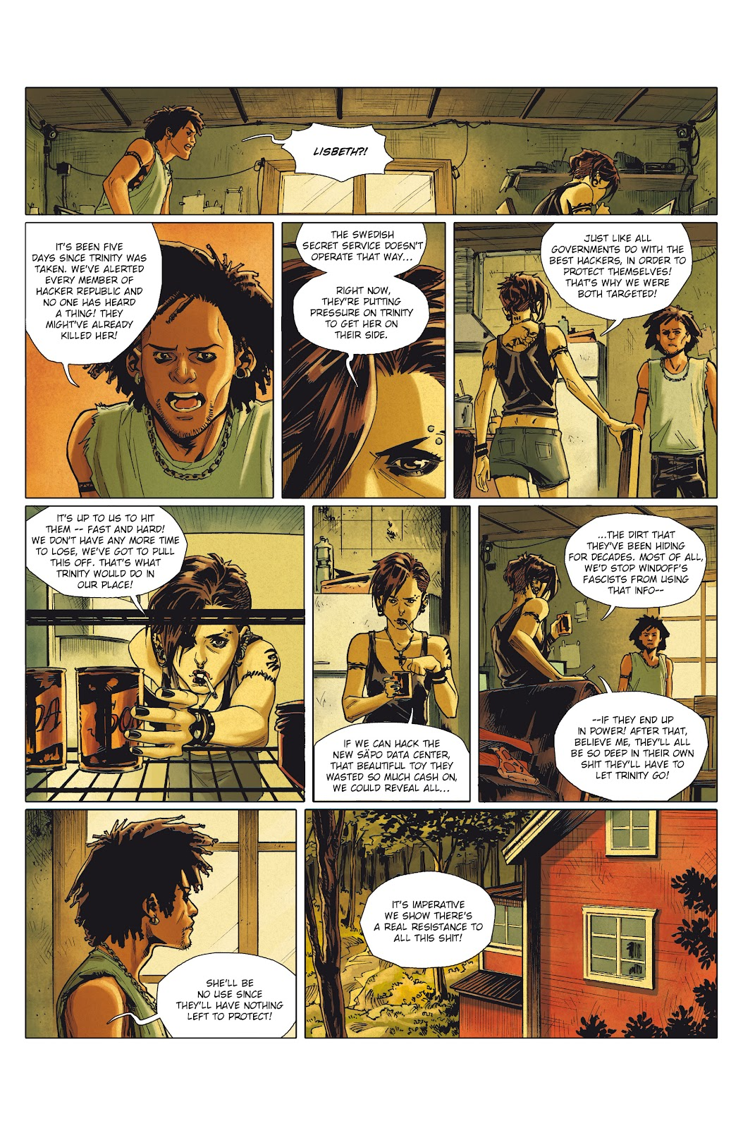 Read online Millennium: The Girl Who Danced With Death comic -  Issue #1 - 17