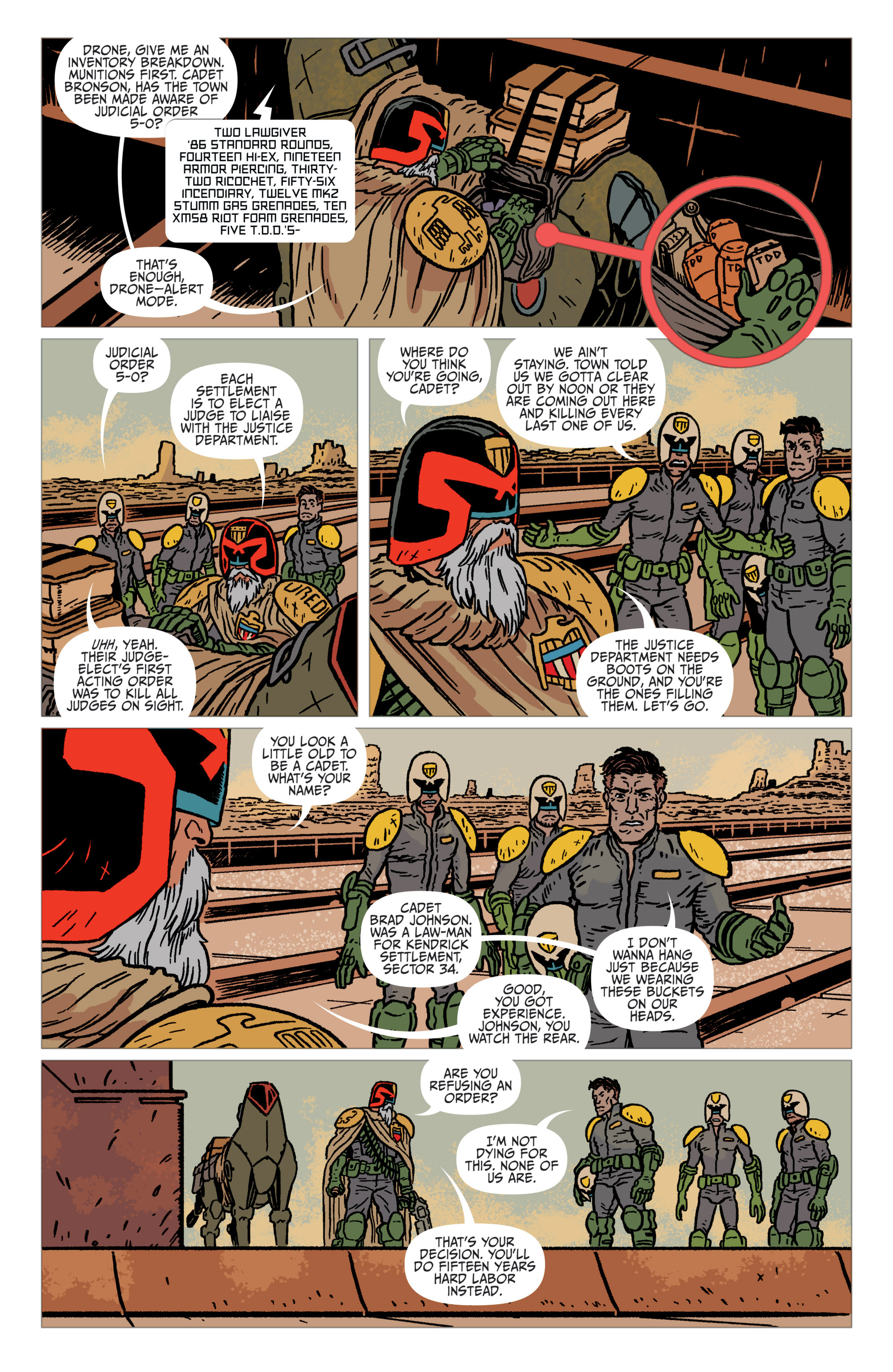Read online Judge Dredd: The Blessed Earth comic -  Issue #1 - 8