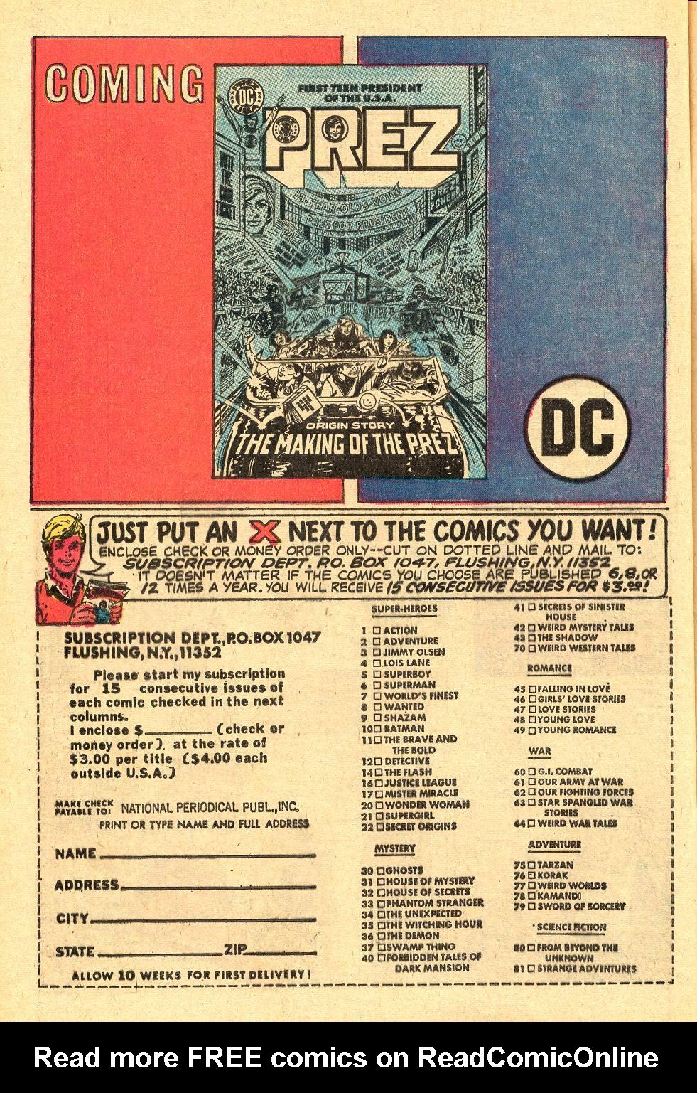Read online Secret Origins (1973) comic -  Issue #3 - 27