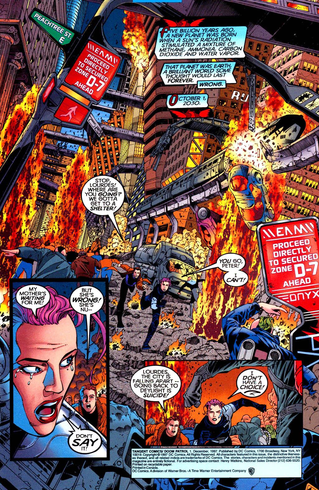Read online Tangent Comics/ Doom Patrol comic -  Issue # Full - 2