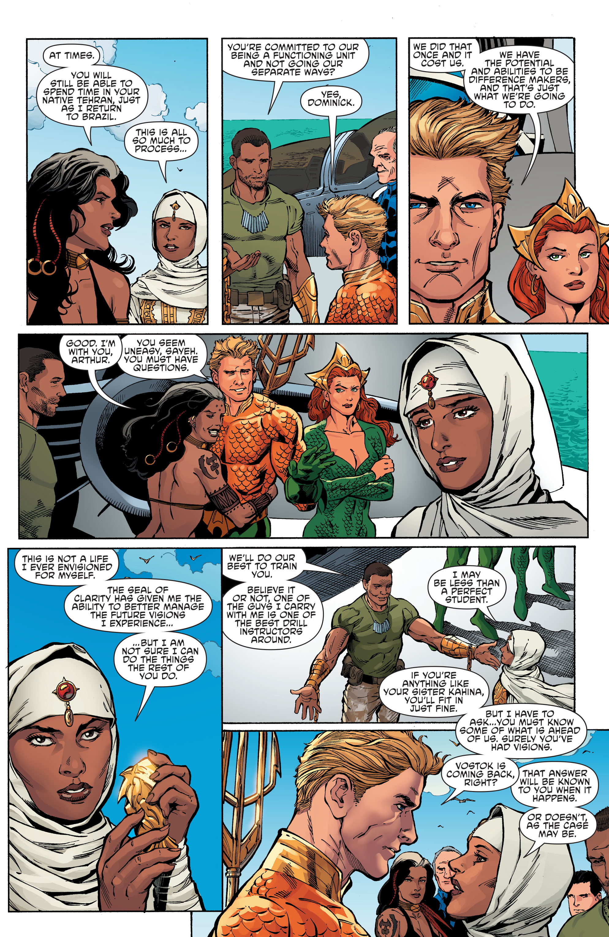 Read online Aquaman and the Others comic -  Issue #6 - 8