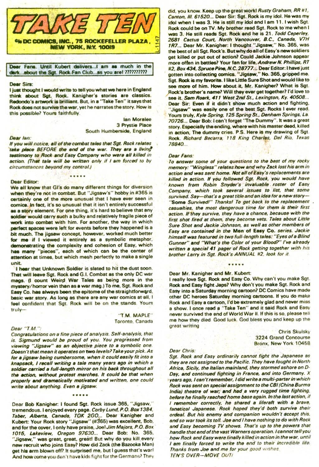 Read online Sgt. Rock comic -  Issue #370 - 34