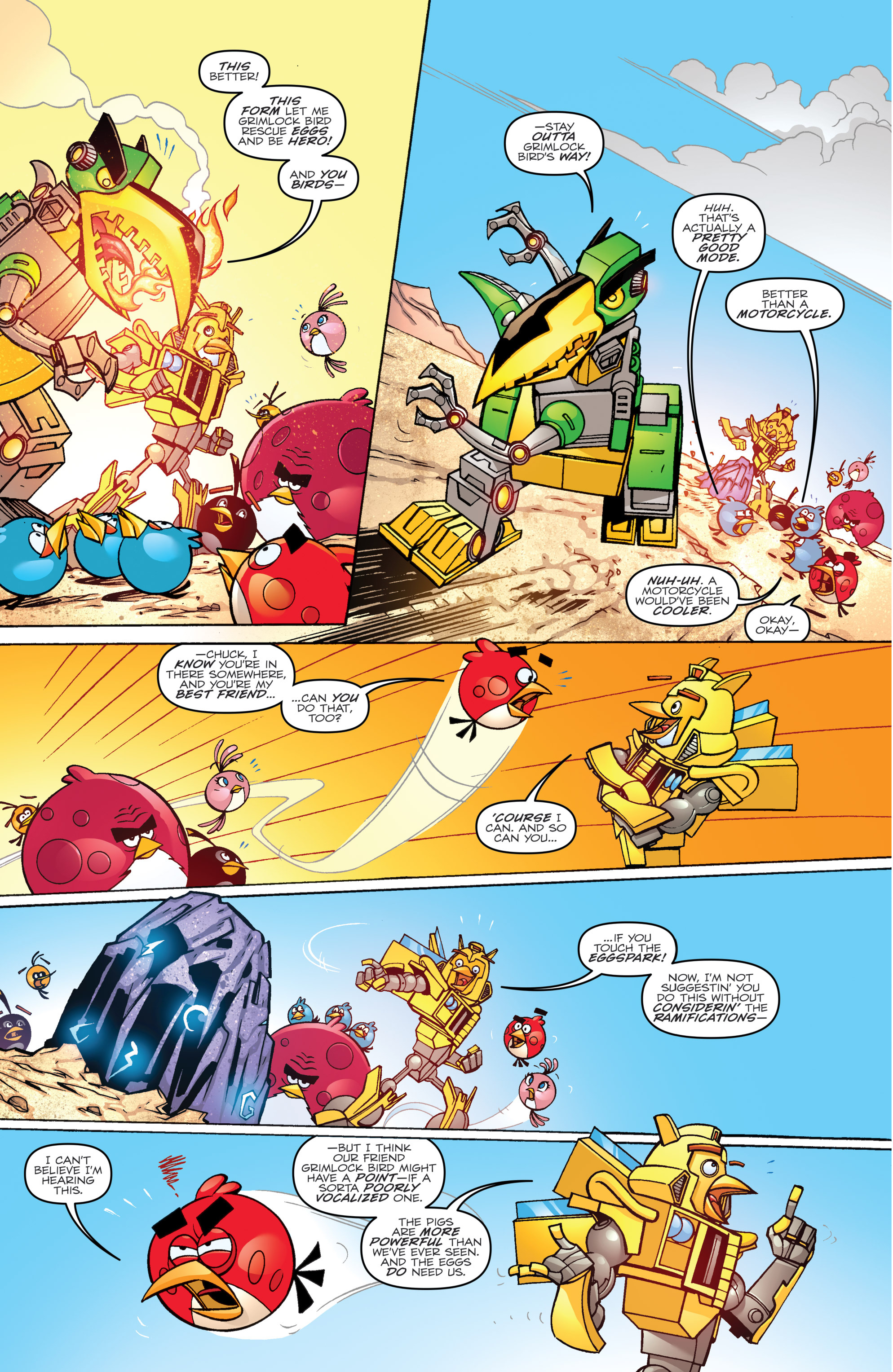 Read online Angry Birds Transformers comic -  Issue #2 - 6