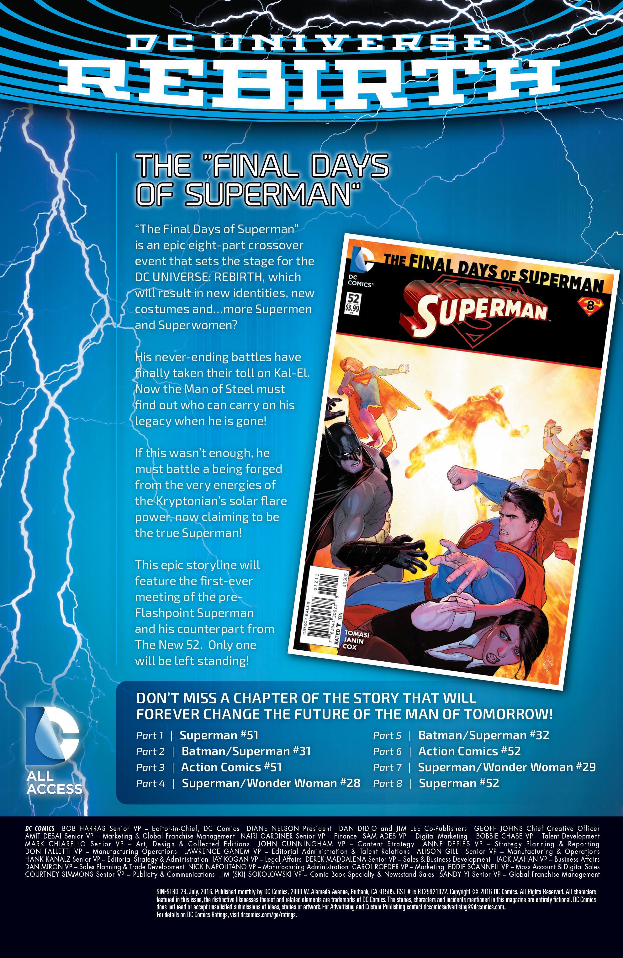 Read online Sinestro comic -  Issue #23 - 26