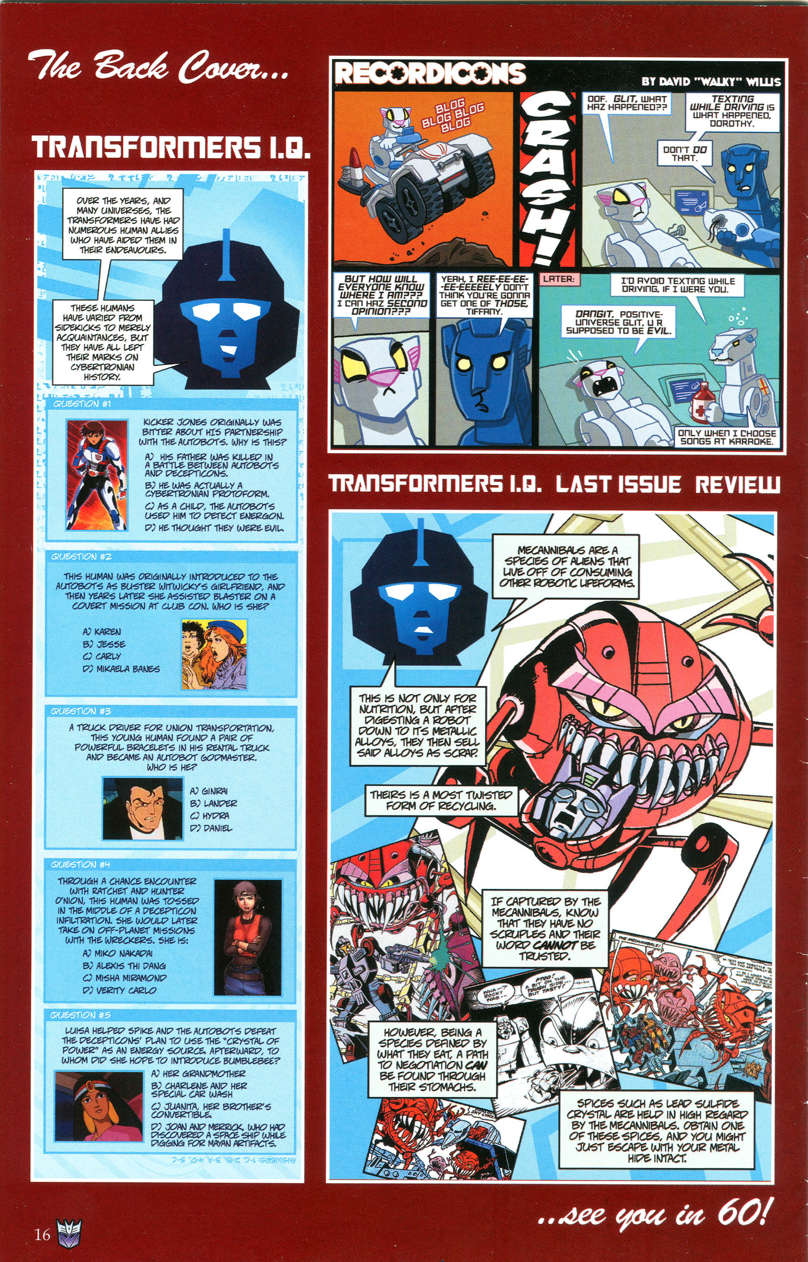 Read online Transformers: Collectors' Club comic -  Issue #47 - 16