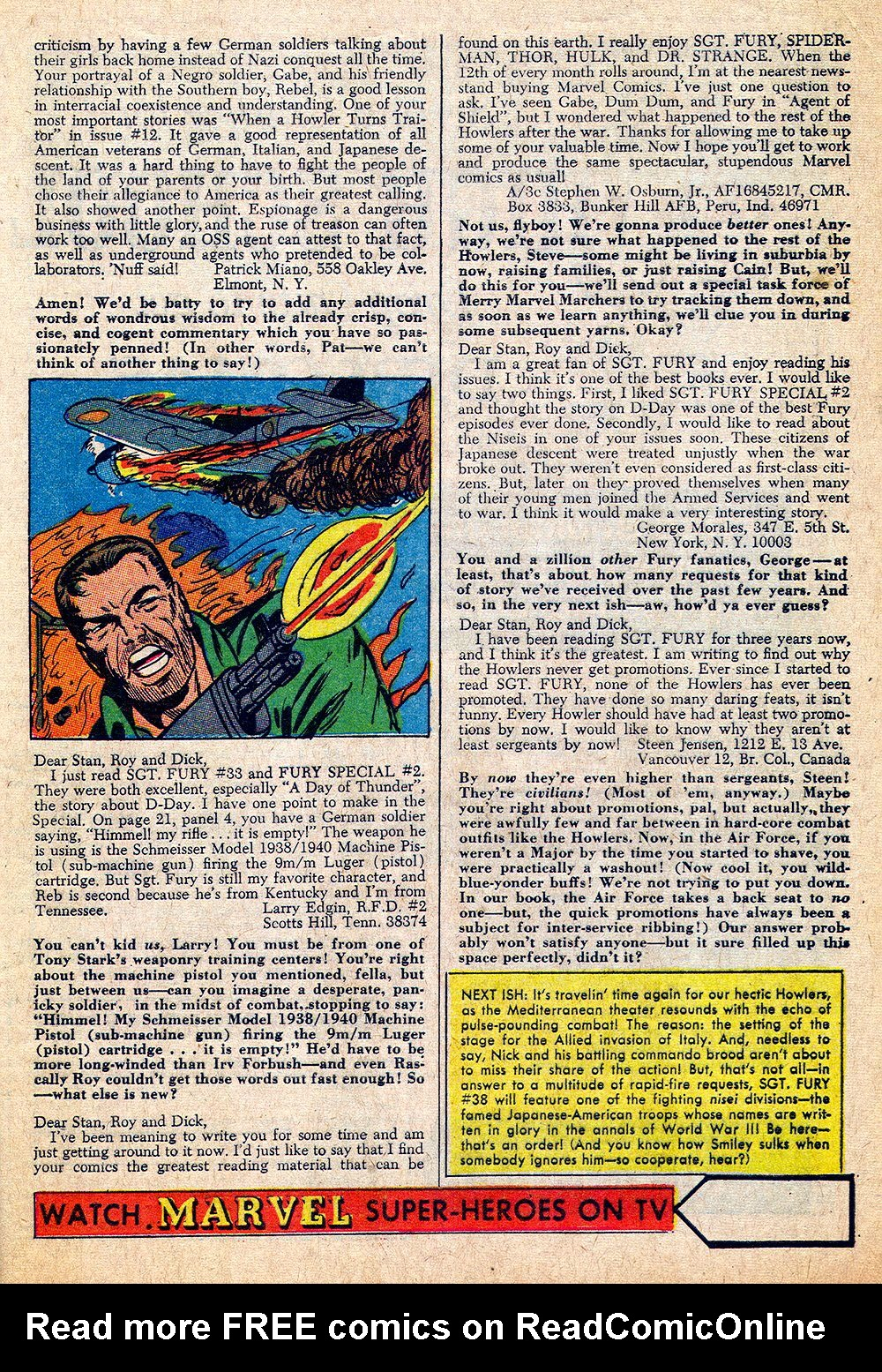 Read online Sgt. Fury comic -  Issue #37 - 33