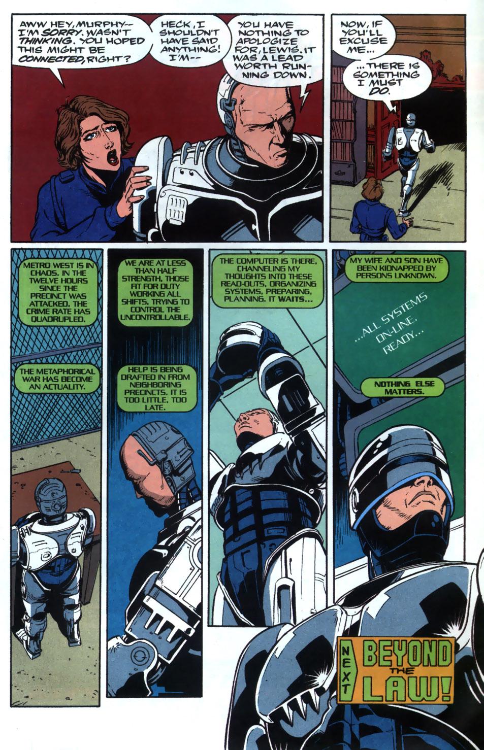 Read online Robocop (1990) comic -  Issue #20 - 24