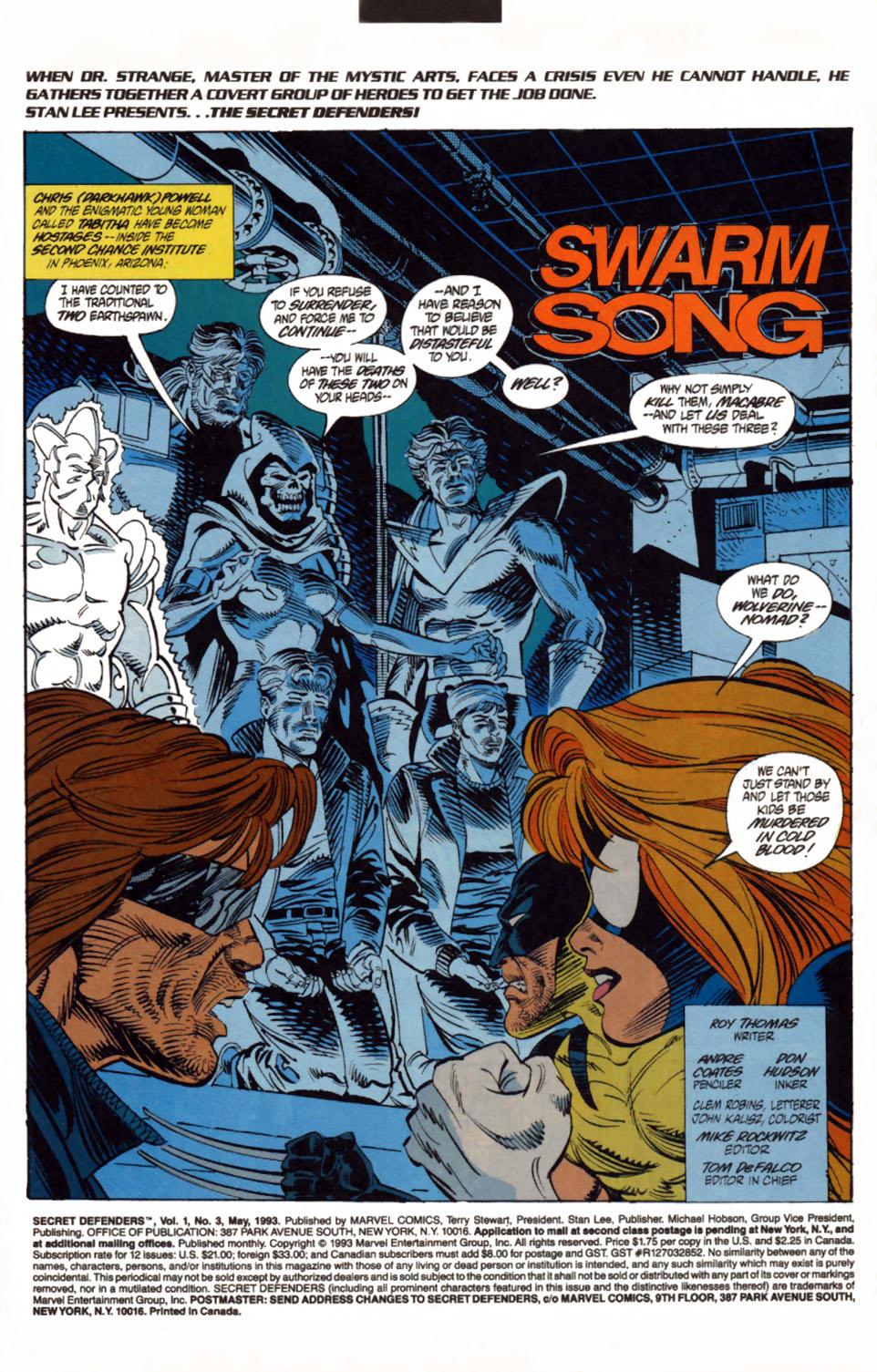 Read online Secret Defenders comic -  Issue #3 - 2