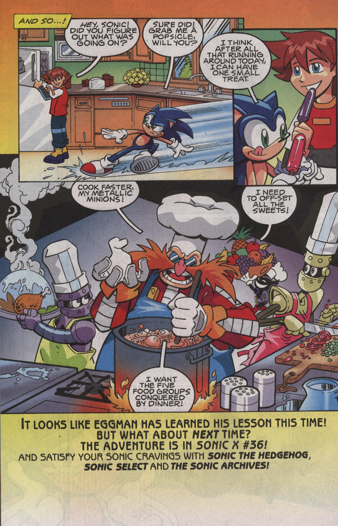 Read online Sonic X comic -  Issue #35 - 32
