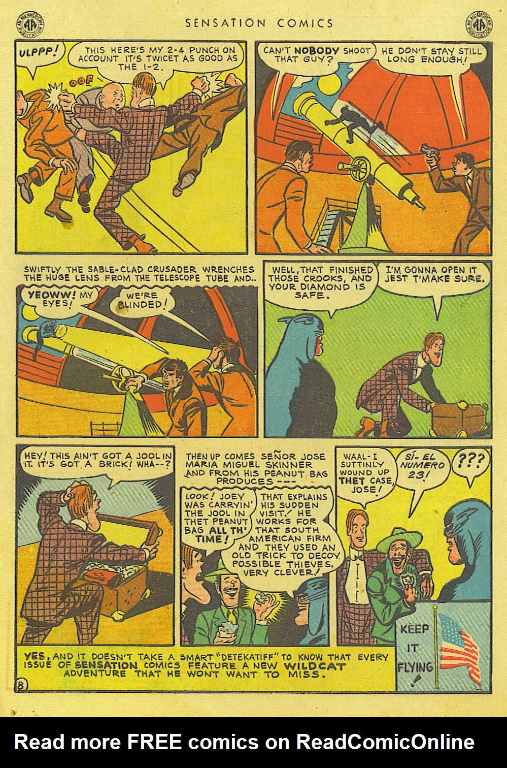 Read online Sensation (Mystery) Comics comic -  Issue #39 - 49