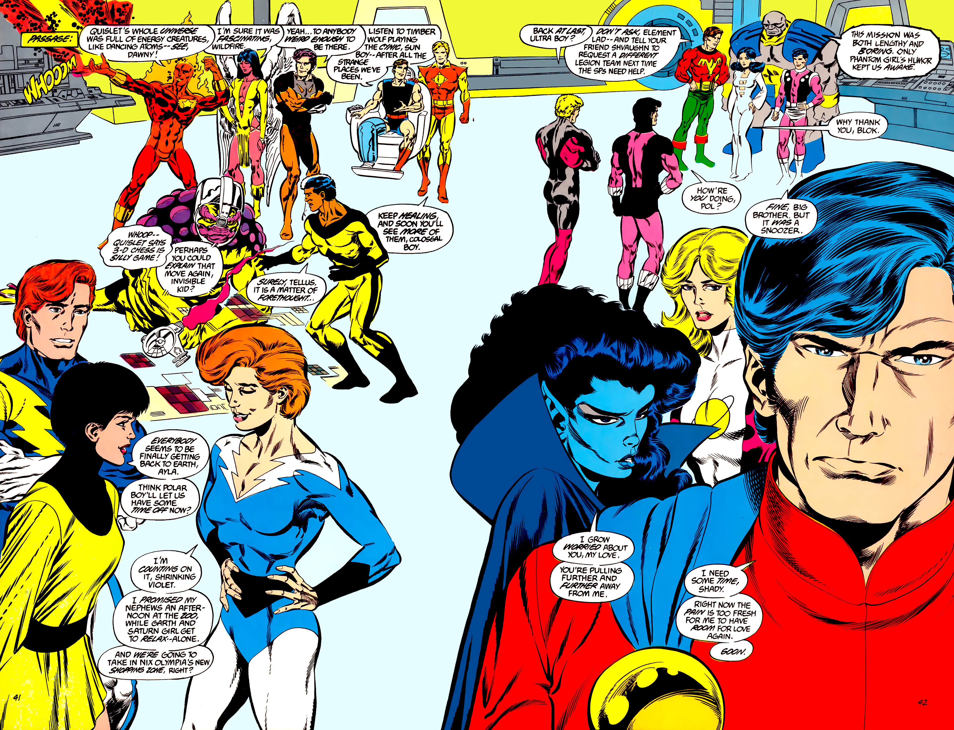 Legion of Super-Heroes (1984) 45 Page 41