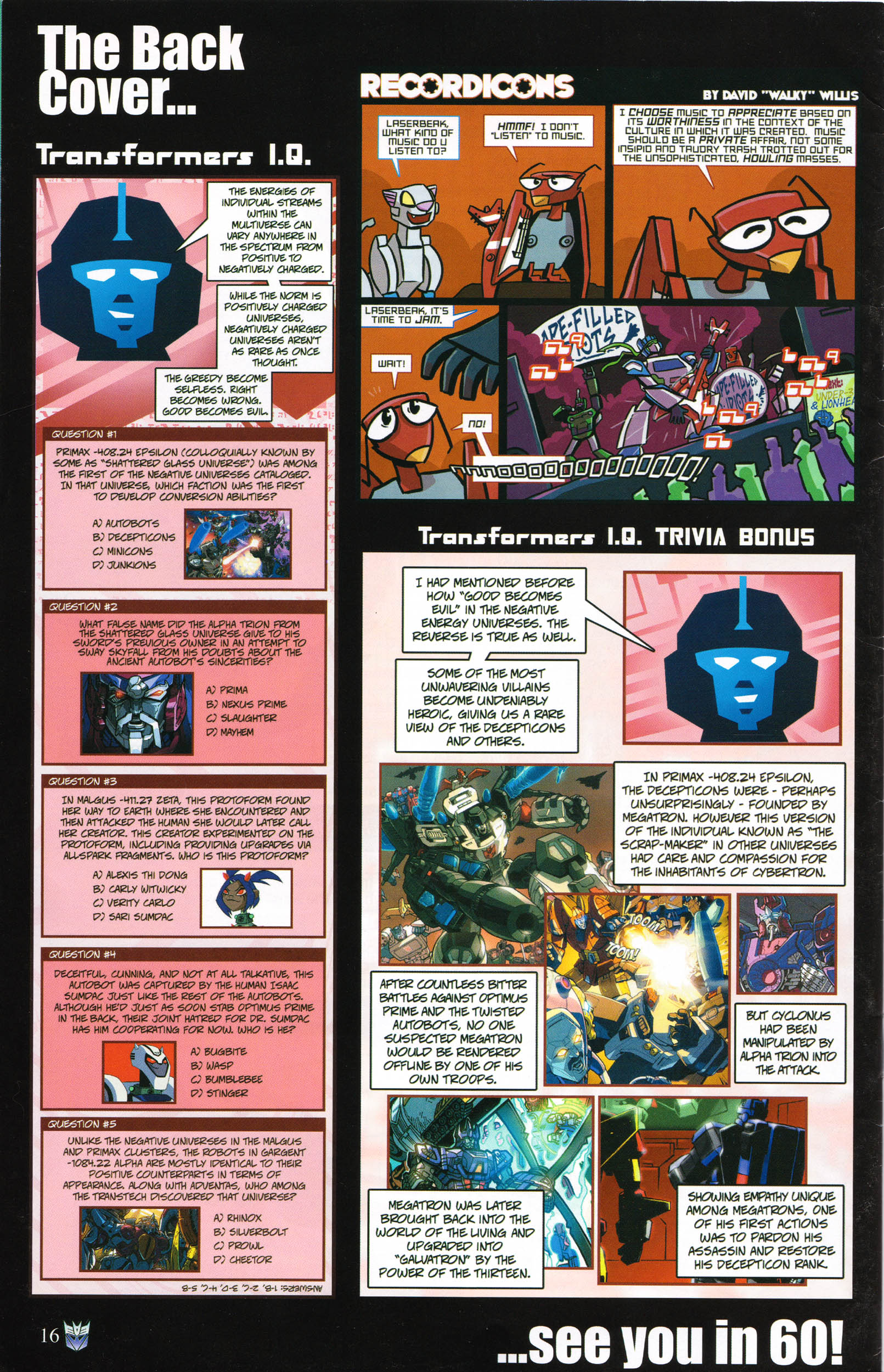 Read online Transformers: Collectors' Club comic -  Issue #58 - 16