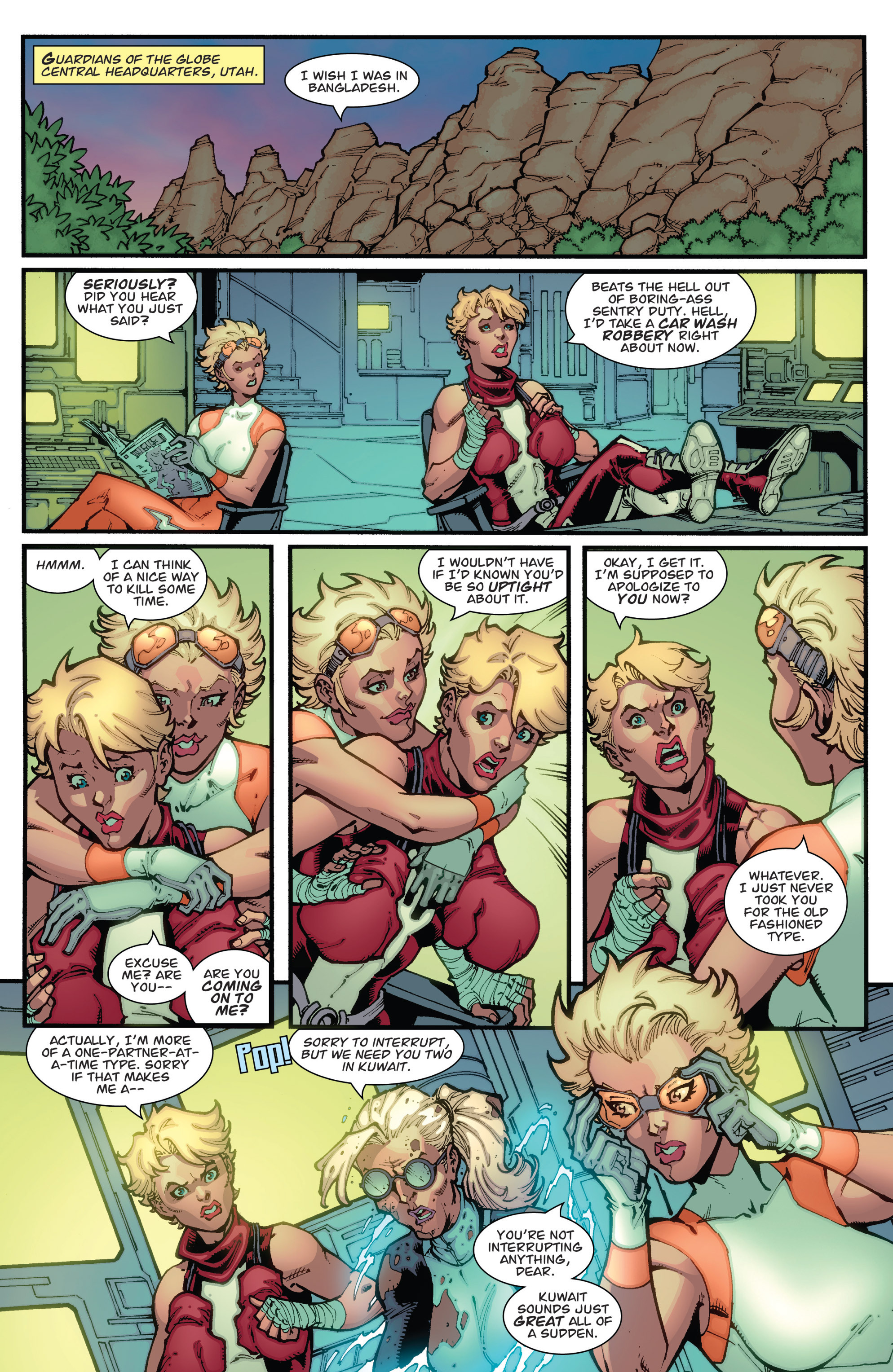 Read online Guarding the Globe (2012) comic -  Issue #2 - 12