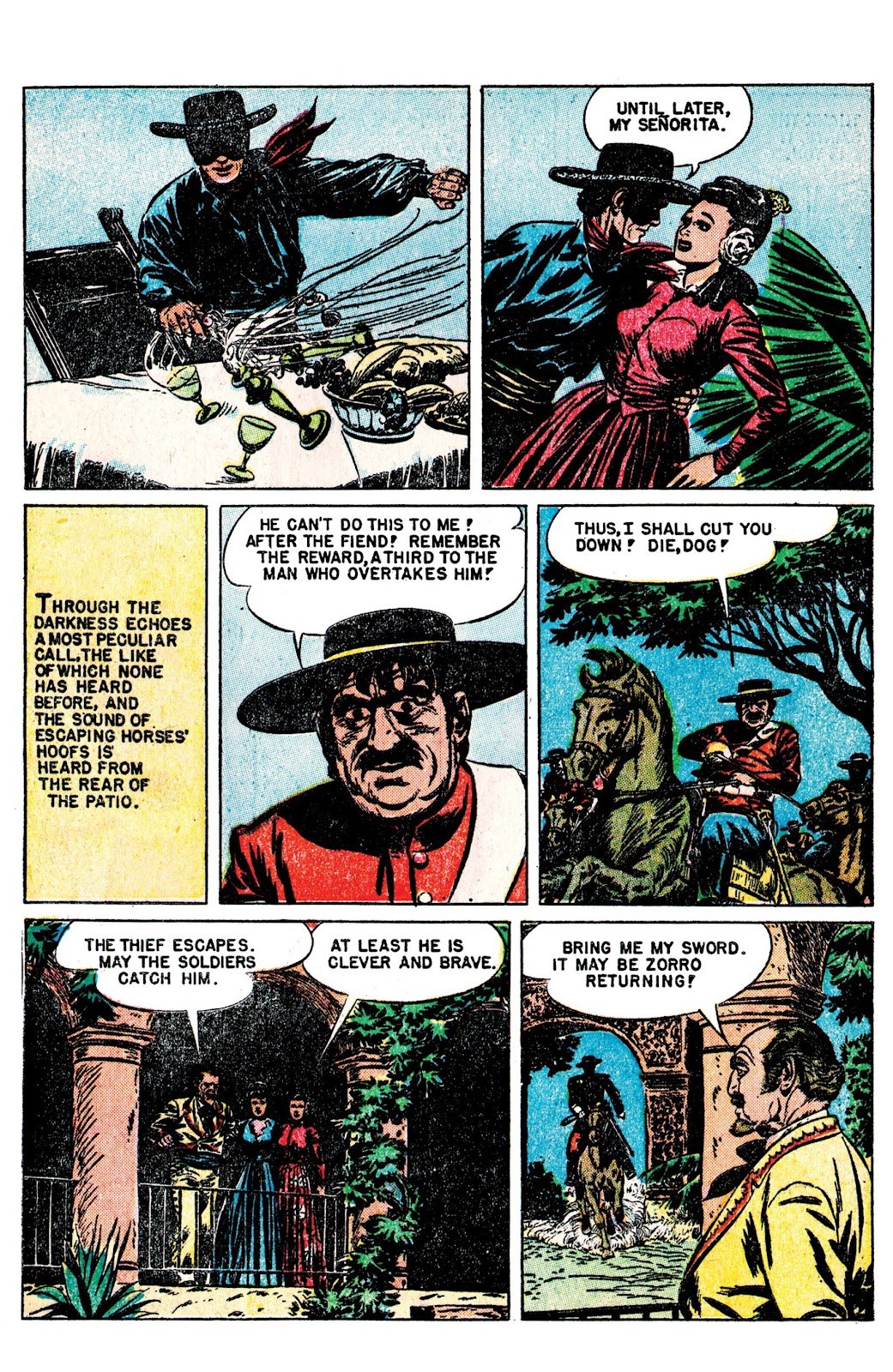 Read online AM Archives: The Mark of Zorro #1 1949 Dell Edition comic -  Issue #1 1949 Dell Edition Full - 9