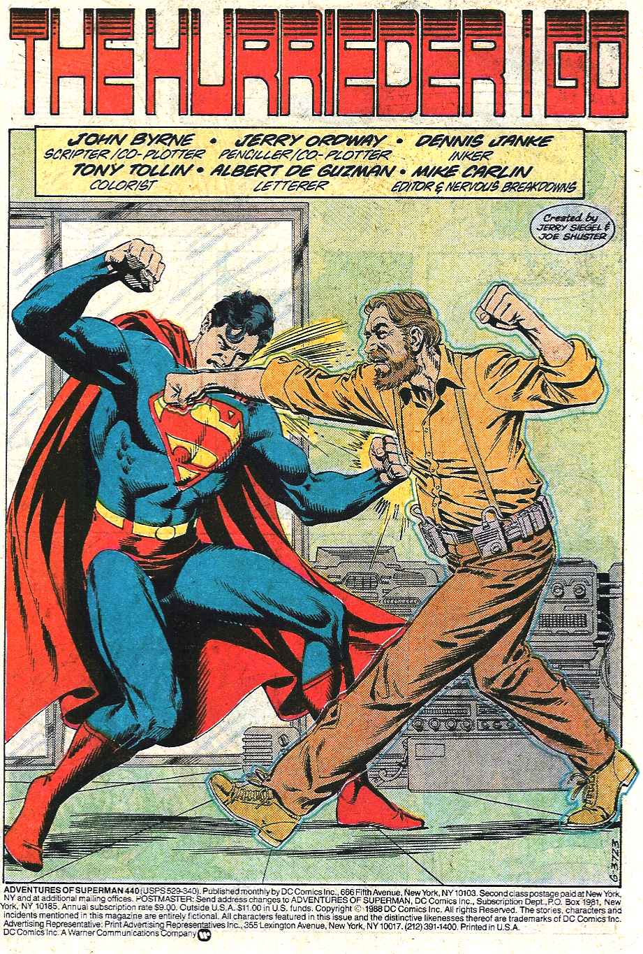 Read online Adventures of Superman (1987) comic -  Issue #440 - 2