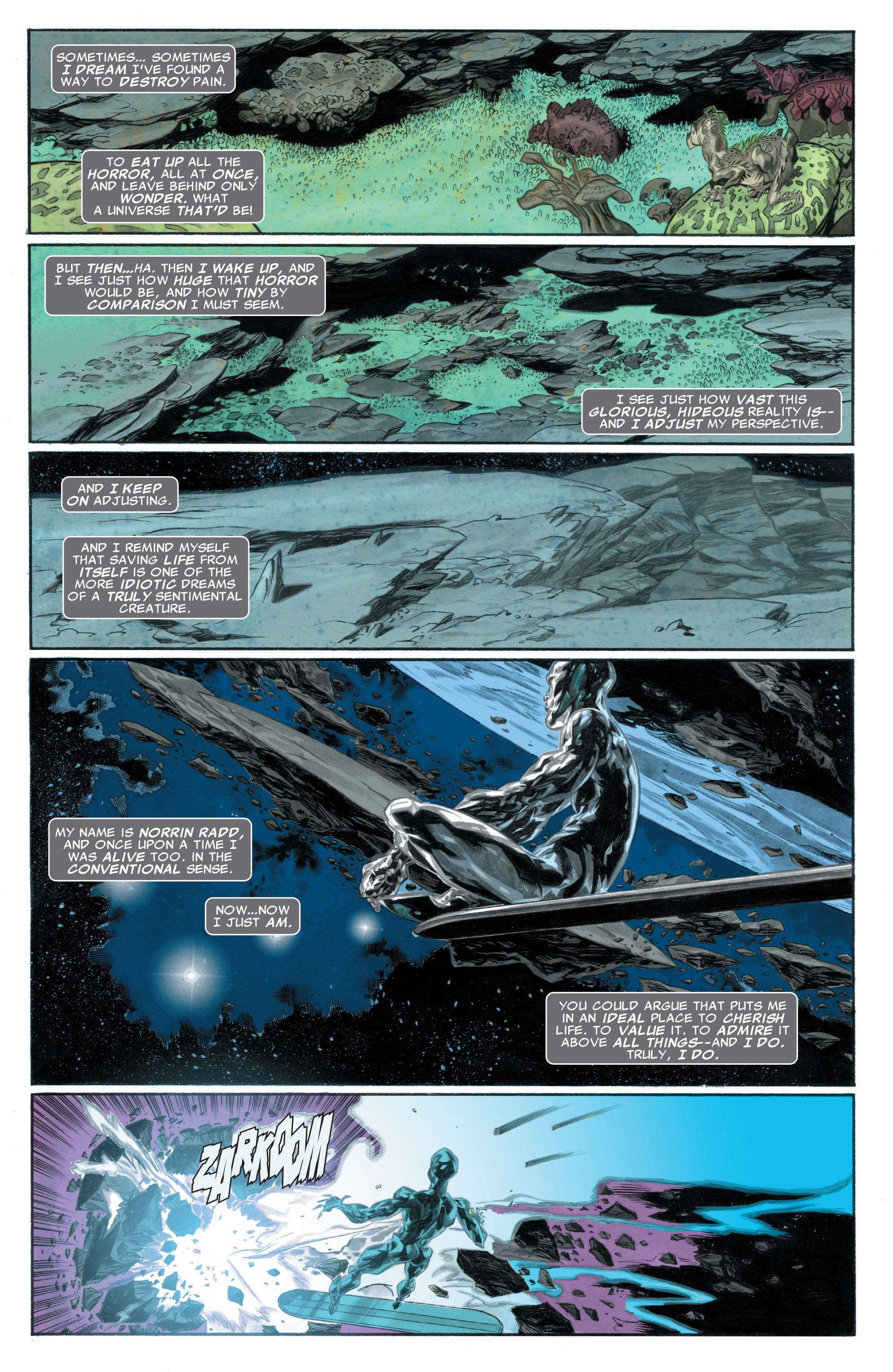 Read online Silver Surfer: In Thy Name comic -  Issue #1 - 4