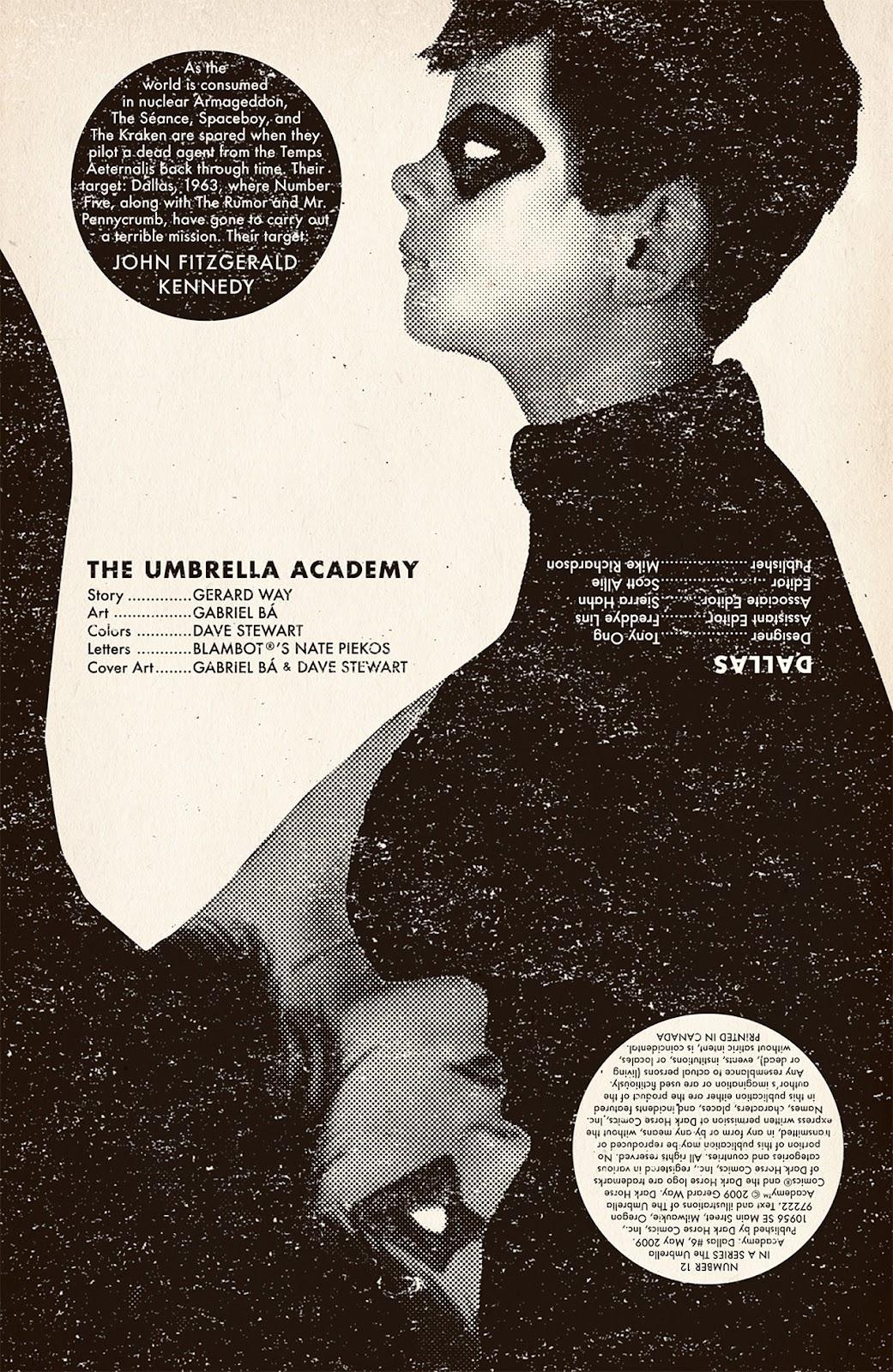 The Umbrella Academy: Dallas issue 6 - Page 1