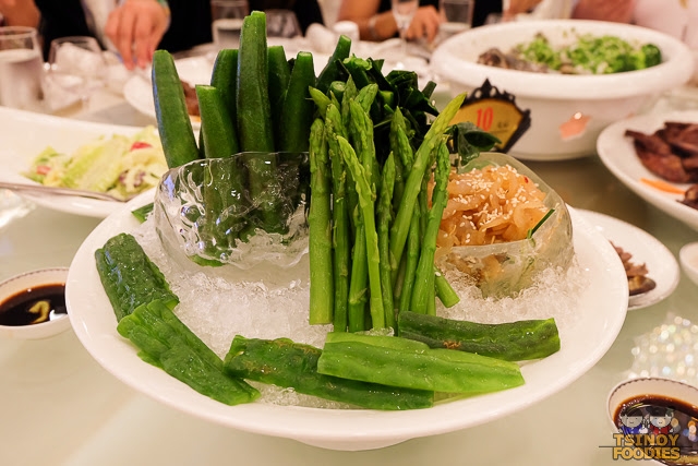 assorted vegetable on ice