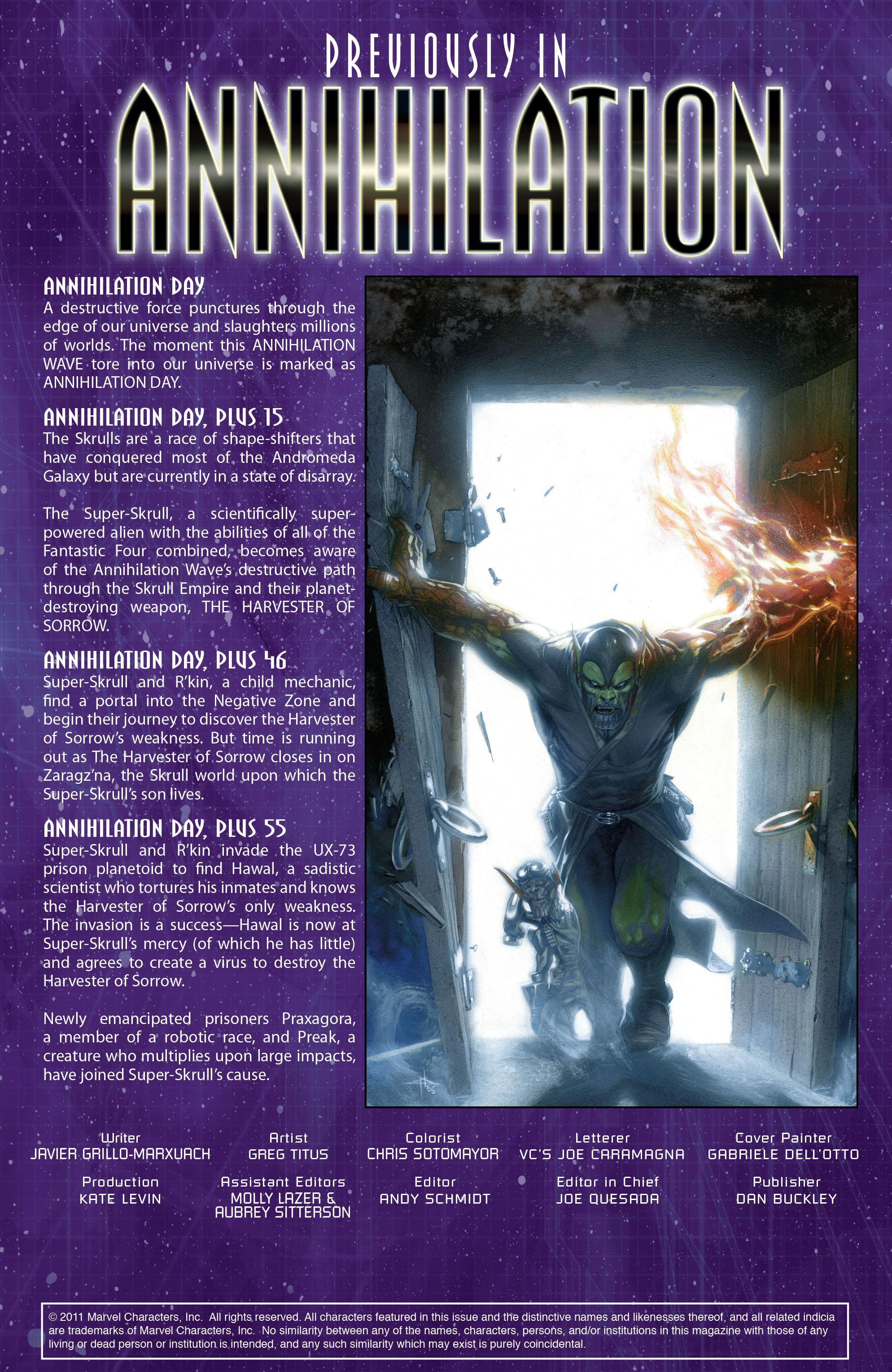 Read online Annihilation: Super-Skrull comic -  Issue #3 - 2