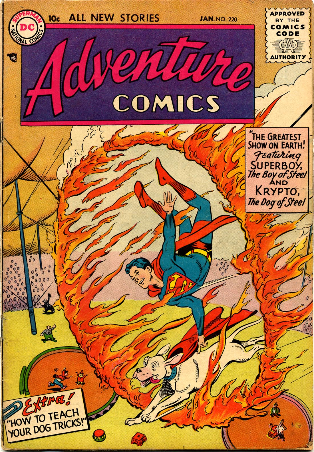 Read online Adventure Comics (1938) comic -  Issue #220 - 1