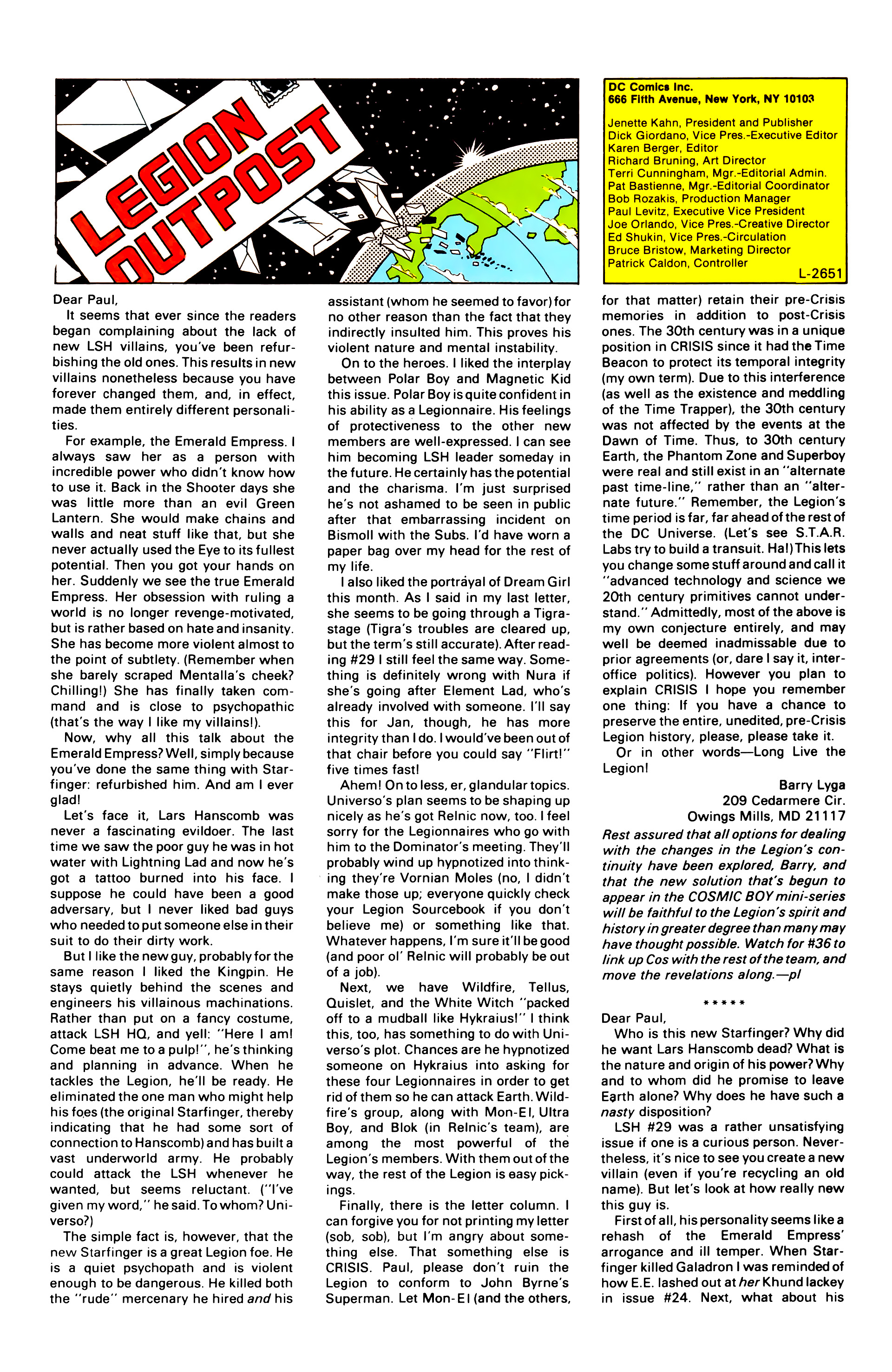 Legion of Super-Heroes (1984) 34 Page 28