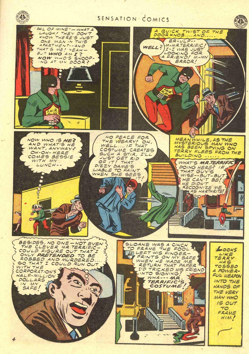 Read online Sensation (Mystery) Comics comic -  Issue #39 - 33