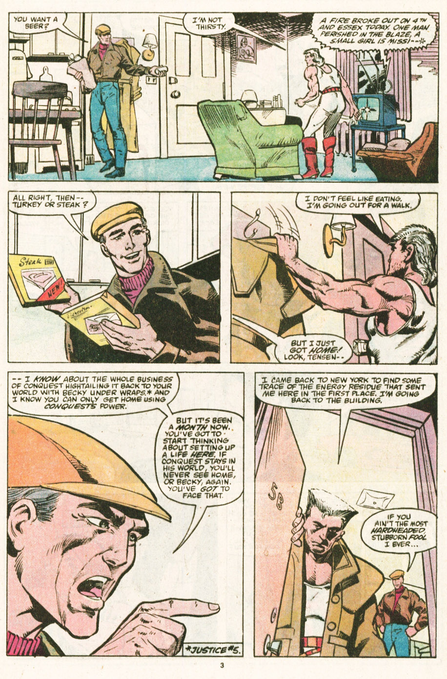 Read online Justice (1986) comic -  Issue #6 - 4
