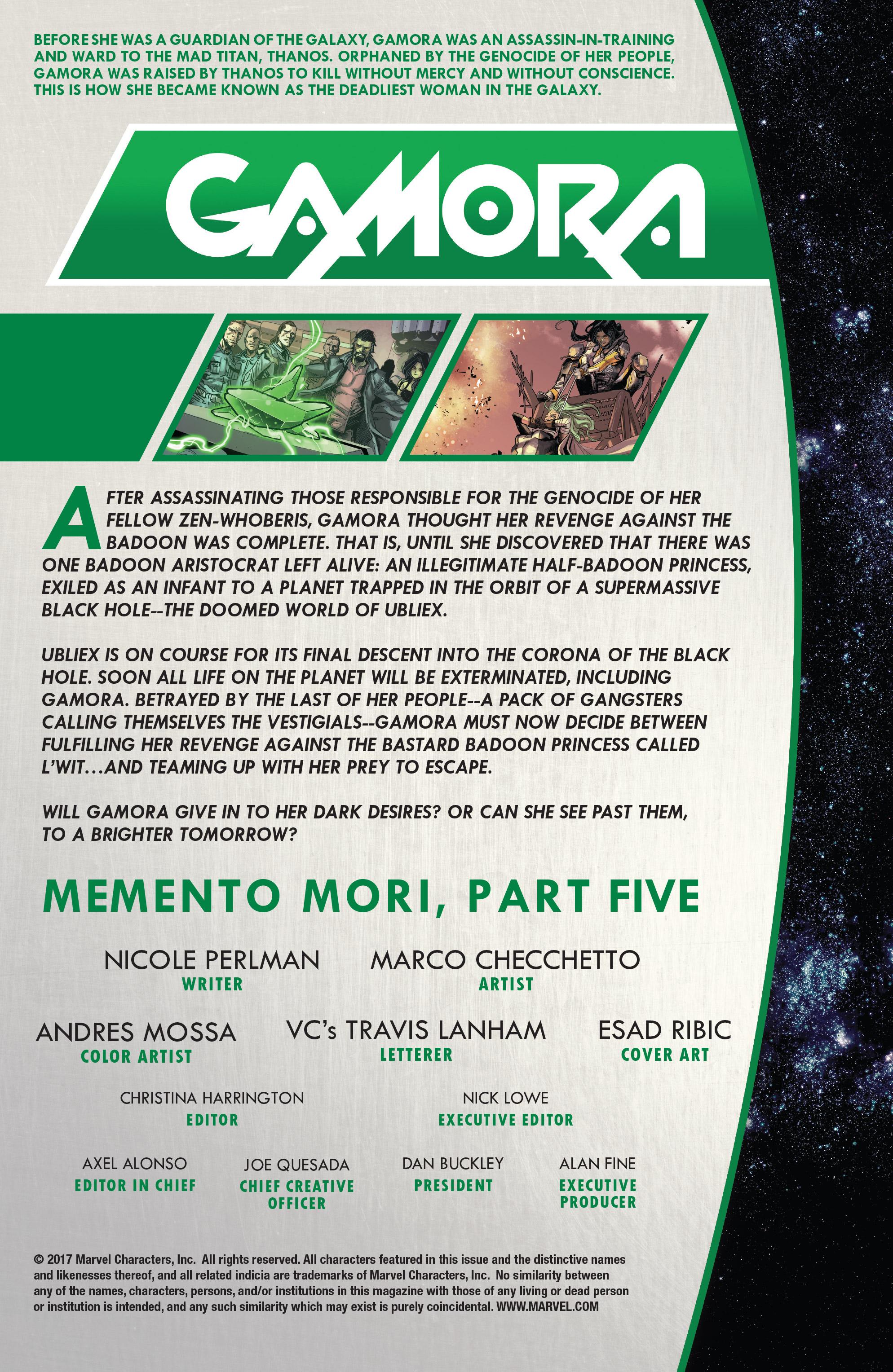 Read online Gamora comic -  Issue #5 - 2