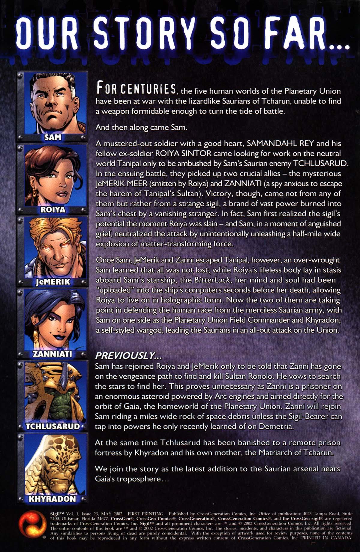 Read online Sigil (2000) comic -  Issue #23 - 2