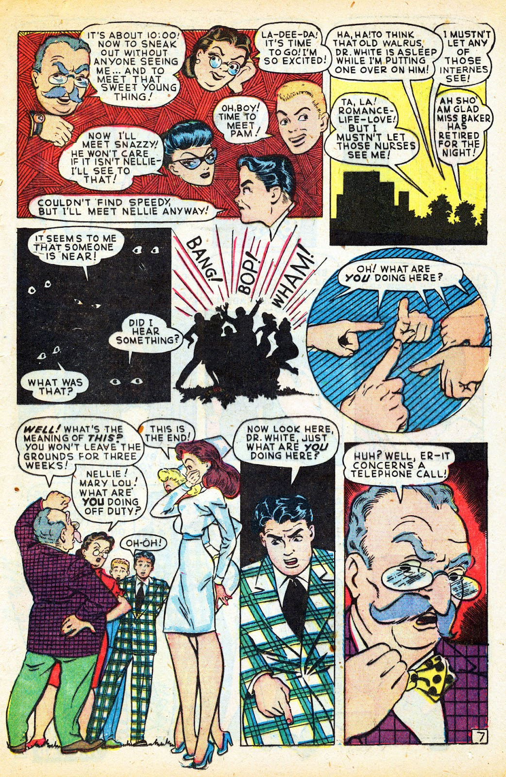 Read online Nellie The Nurse (1945) comic -  Issue #12 - 35