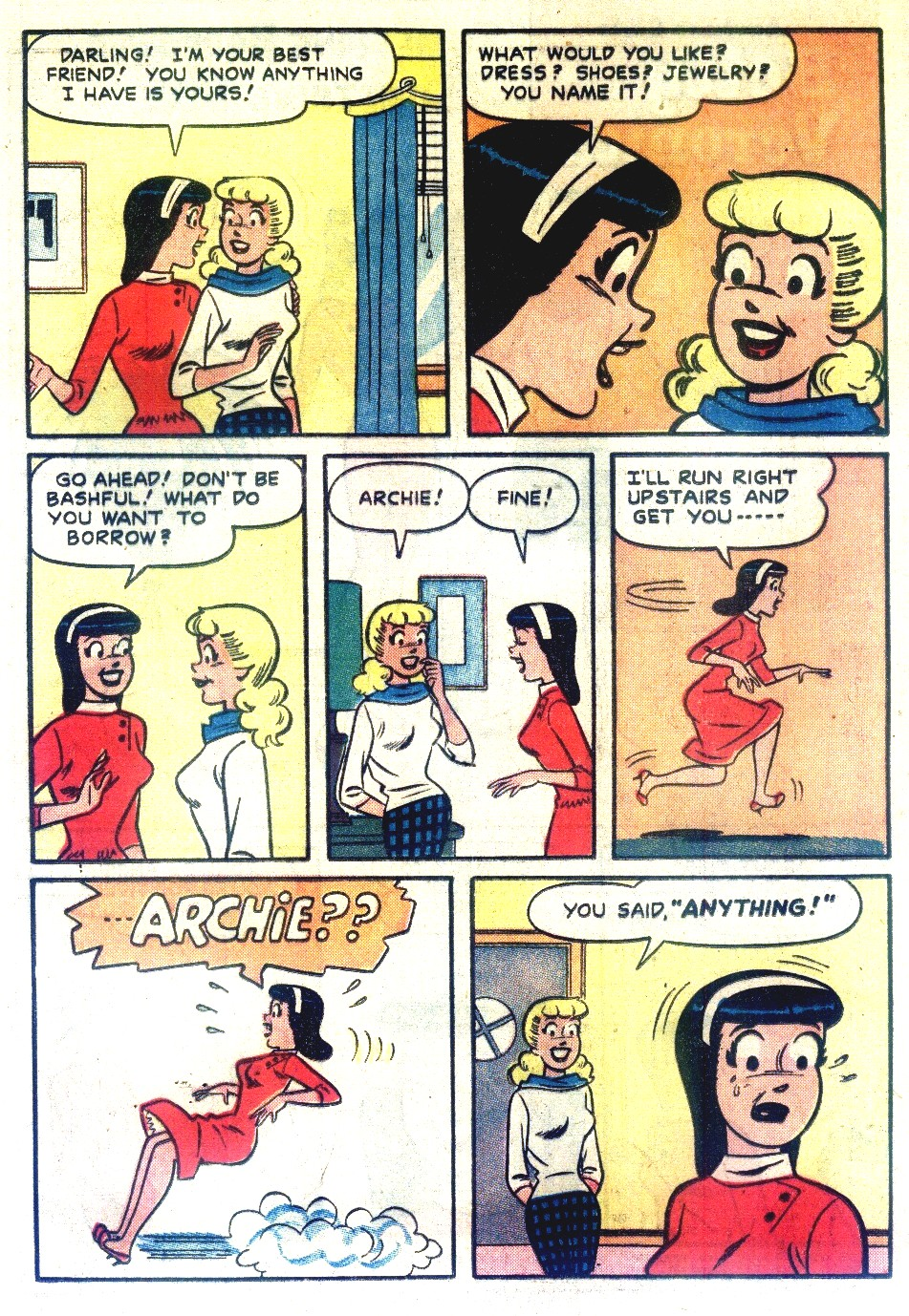 Read online Archie's Girls Betty and Veronica comic -  Issue #55 - 4