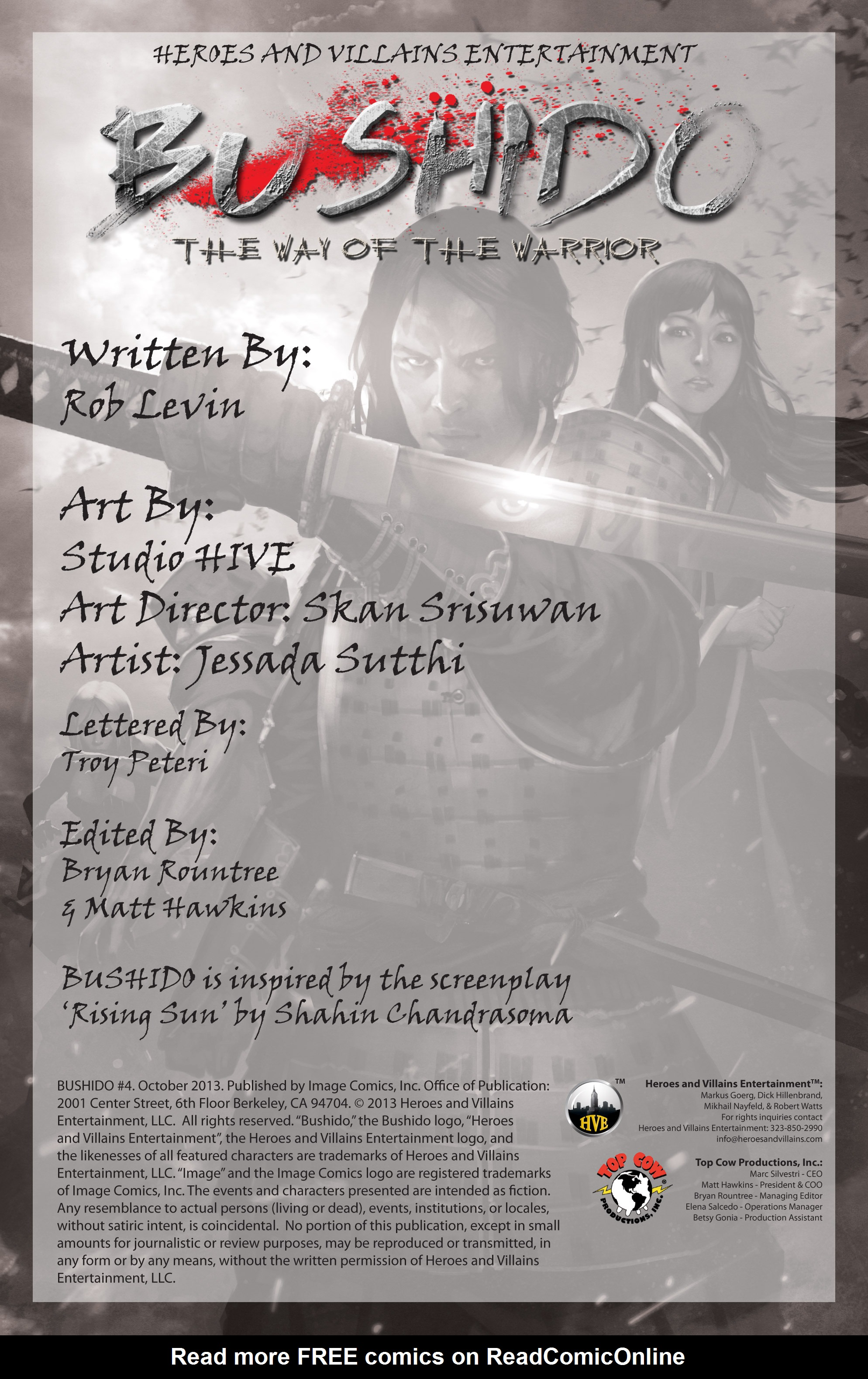 Read online Bushido: The Way of the Warrior comic -  Issue #4 - 2