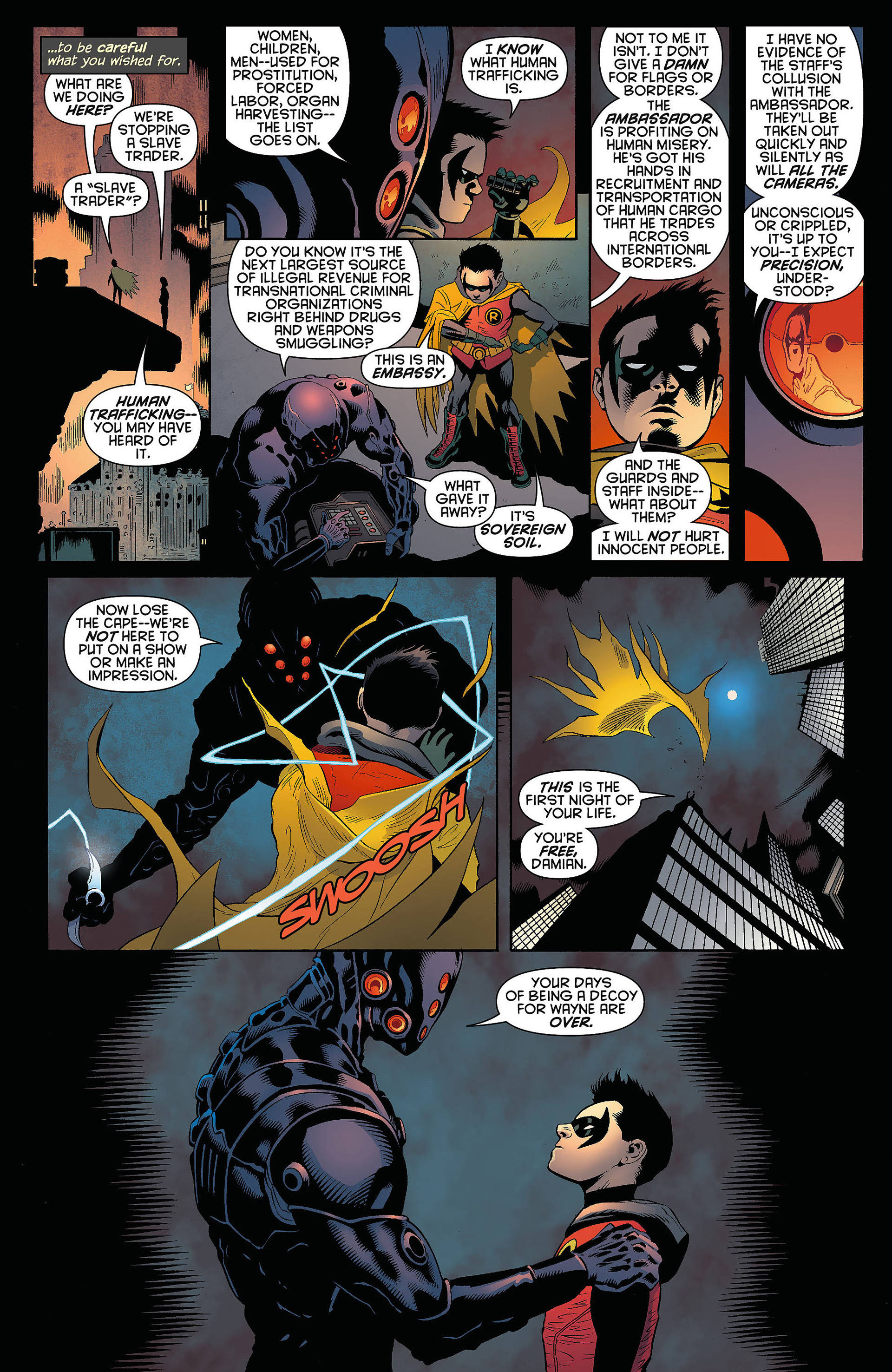 Read online Batman and Robin (2011) comic -  Issue #5 - 17