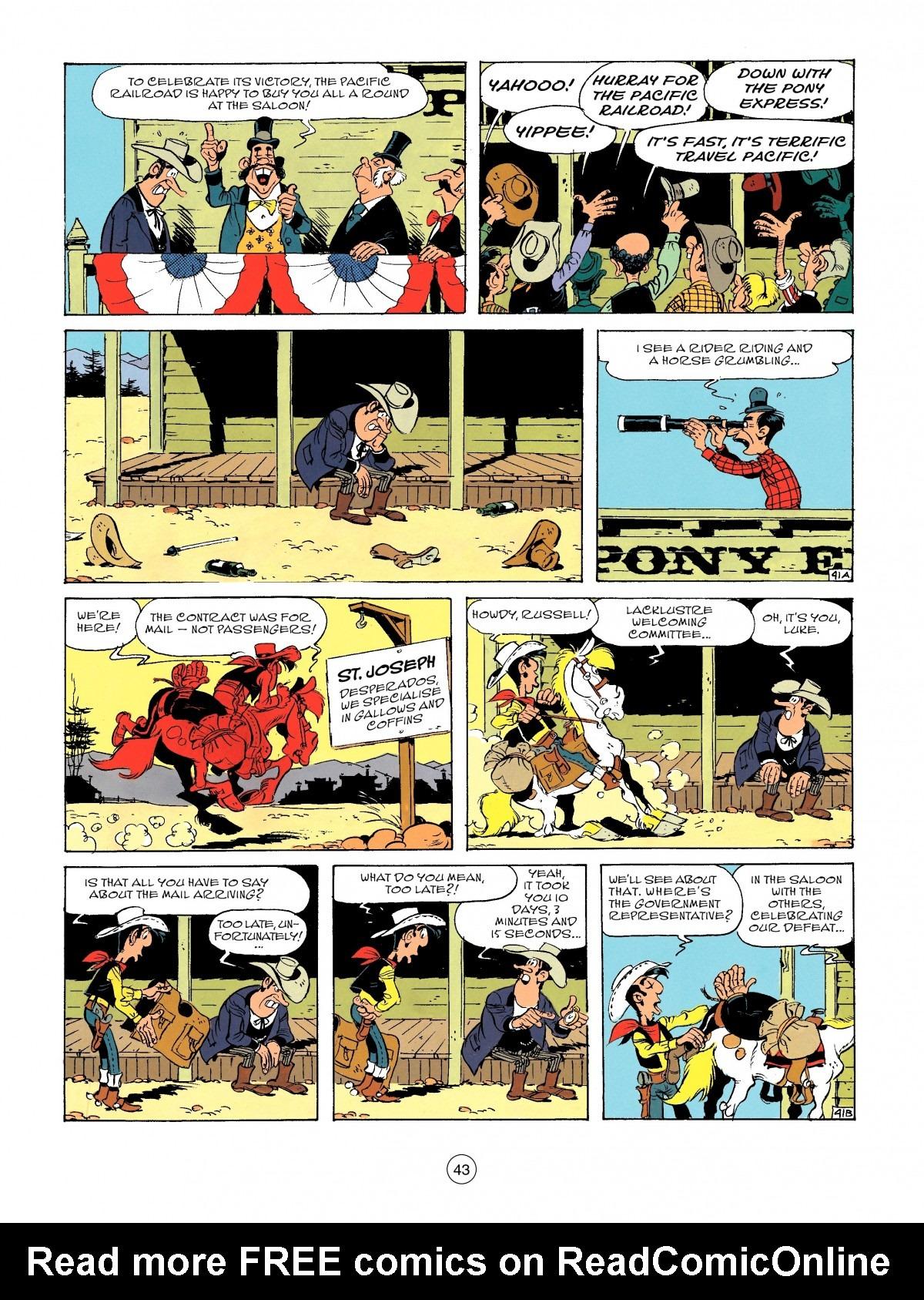 Read online A Lucky Luke Adventure comic -  Issue #46 - 43
