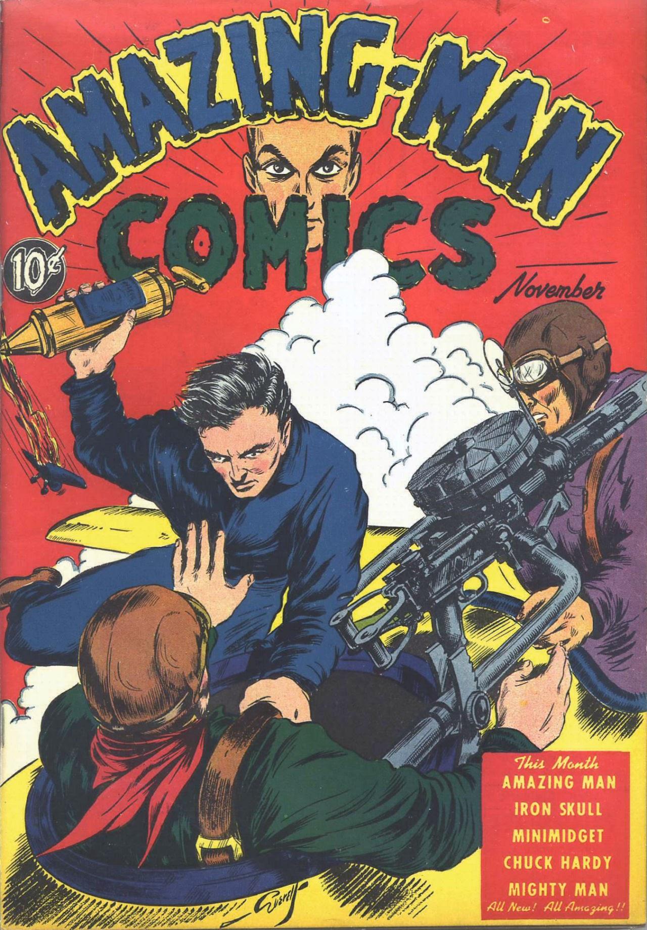 Read online Amazing Man Comics comic -  Issue #7 - 2