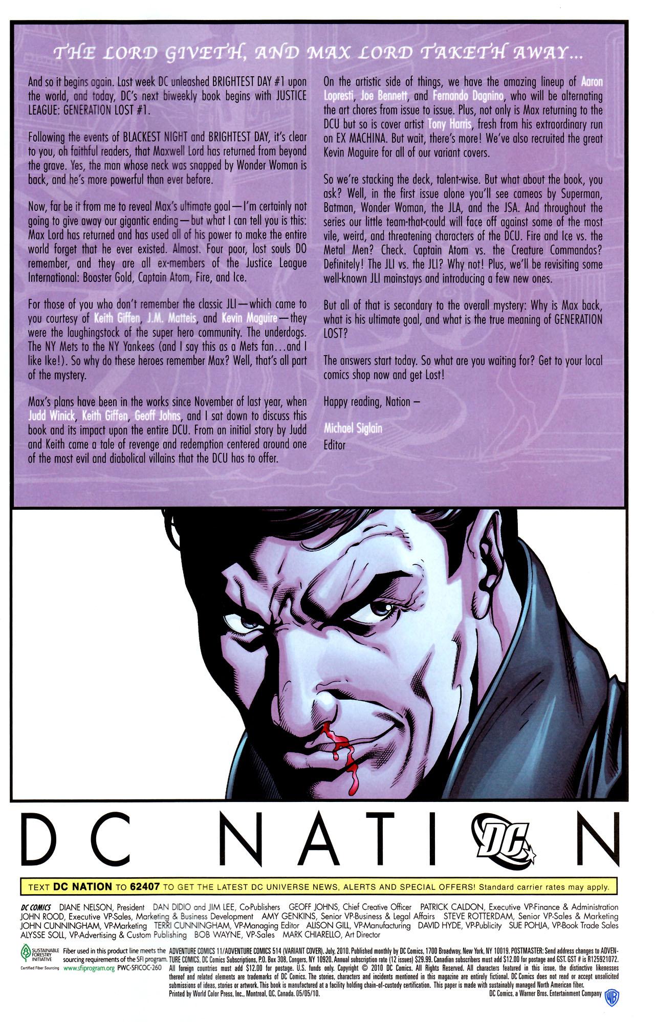 Read online Adventure Comics (2009) comic -  Issue #11 - 32