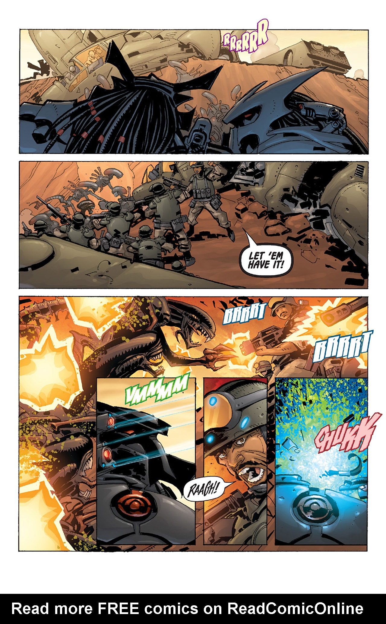 Read online Aliens vs. Predator: Three World War comic -  Issue #4 - 21