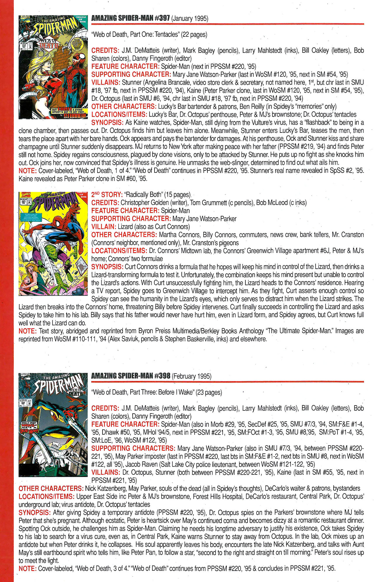 Read online Official Index to the Marvel Universe comic -  Issue #9 - 20