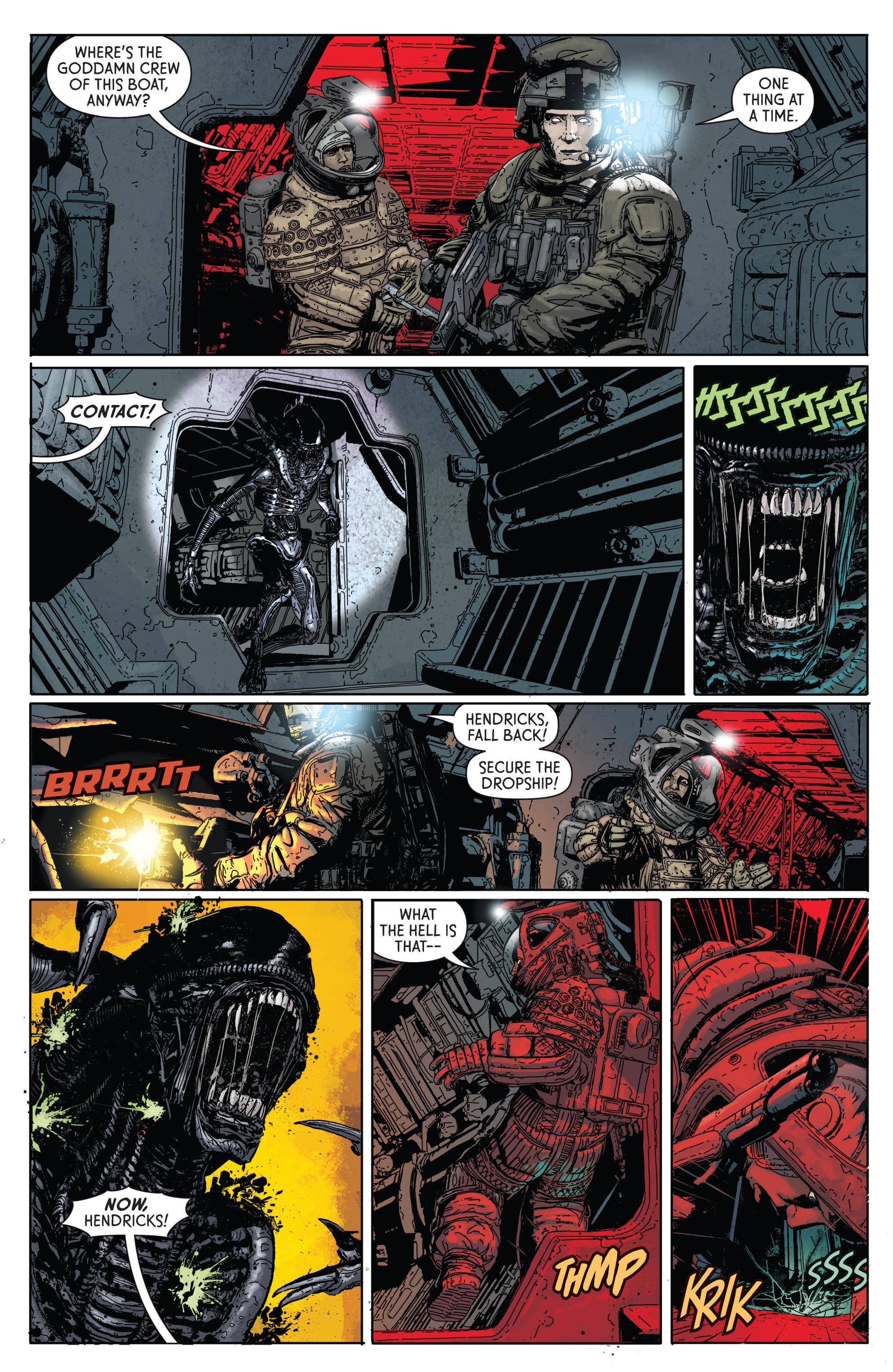 Read online Aliens: Defiance comic -  Issue #1 - 18